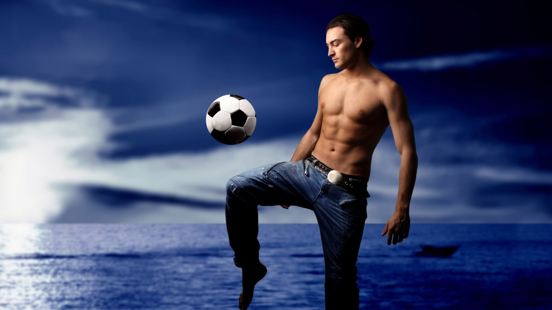 1920x1080 Guy Bouncing A Soccer Ball