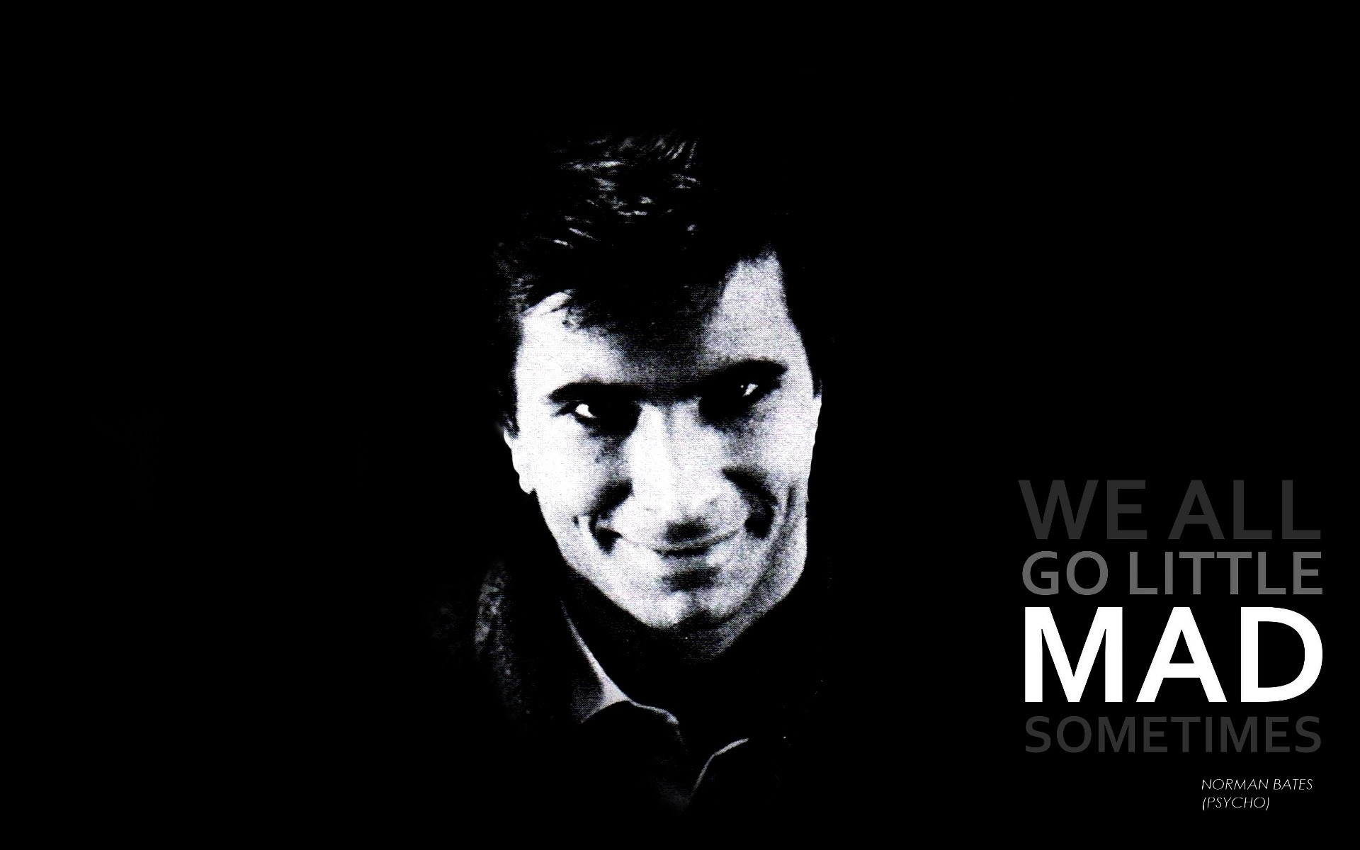1920x1200 Wallpaper  Quotes, Psycho, Grayscale, Alfred, Hitchcock .
