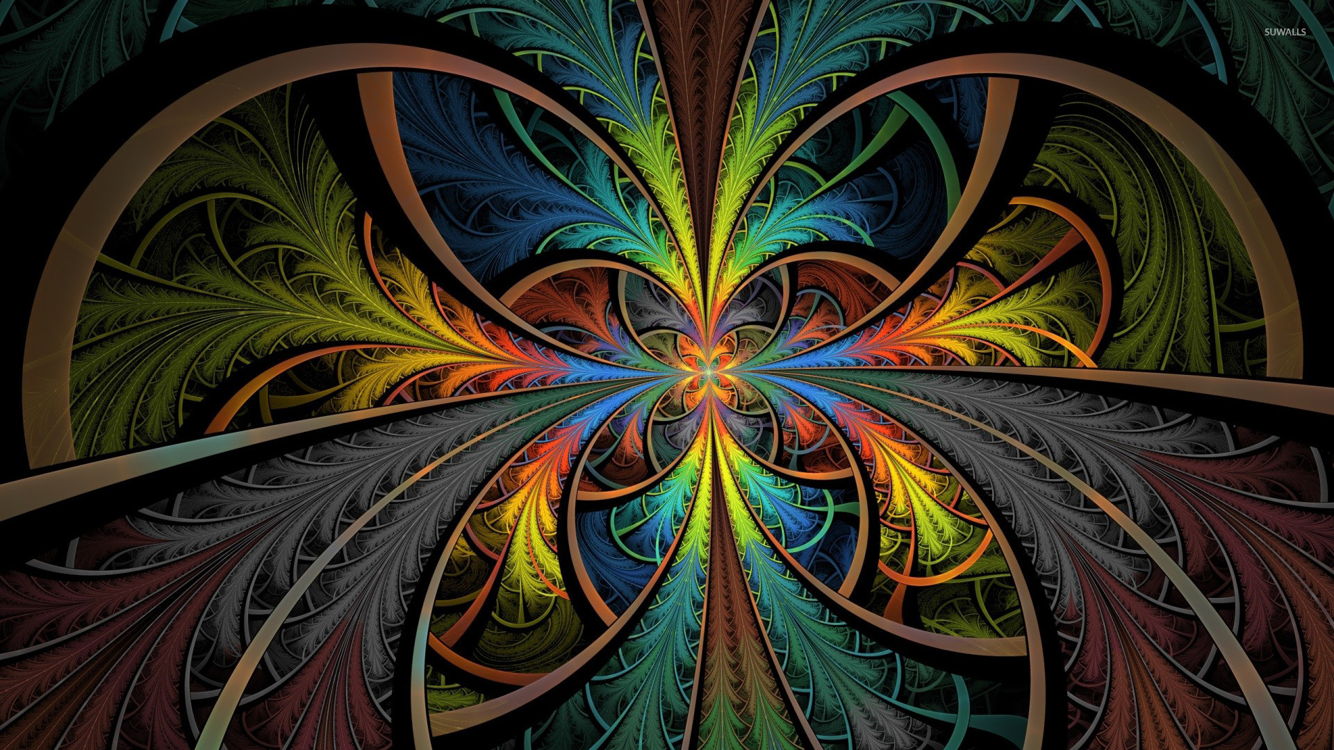 1920x1080 Abstract colors fractals multicolor psychedelic wallpaper .