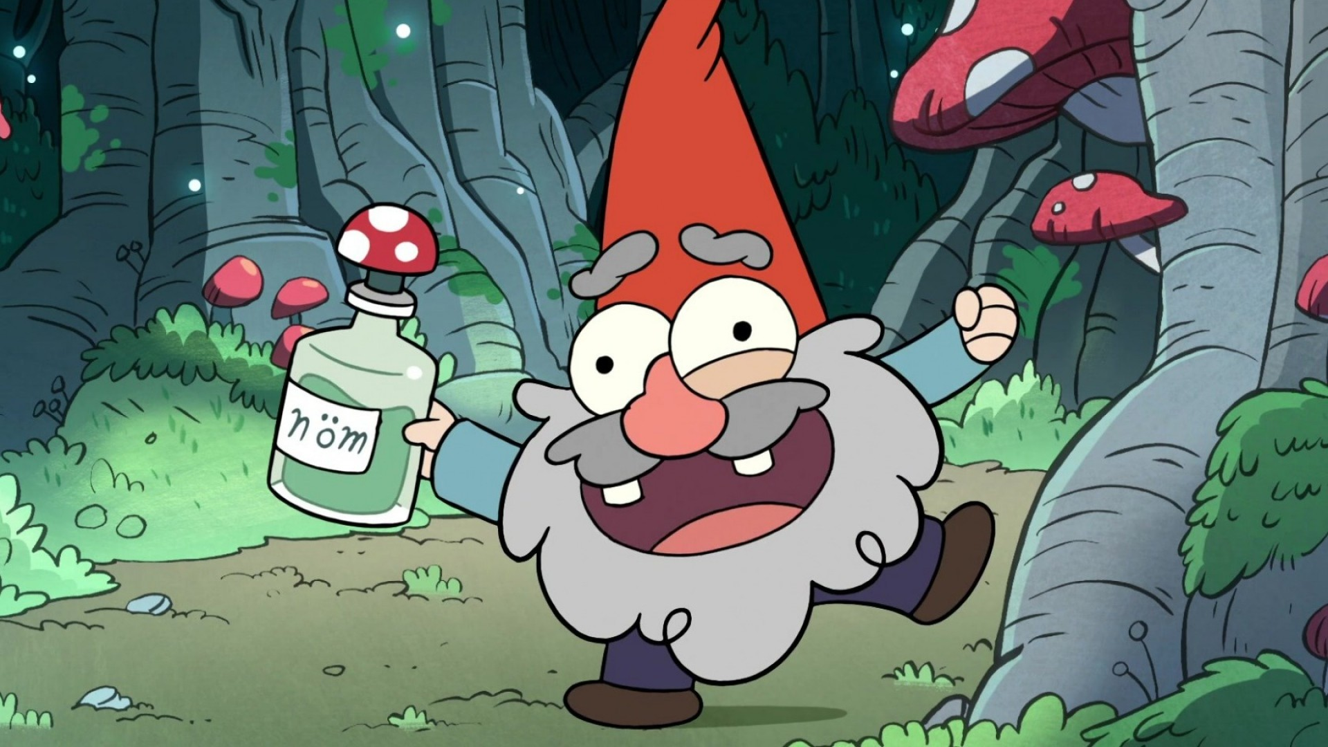 1920x1080  Wallpaper gravity falls, cartoon, art, forest