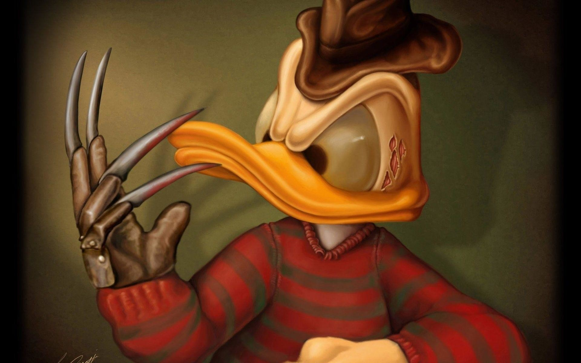 1920x1200 Donald Duck as Freddy Krueger Exclusive HD Wallpapers
