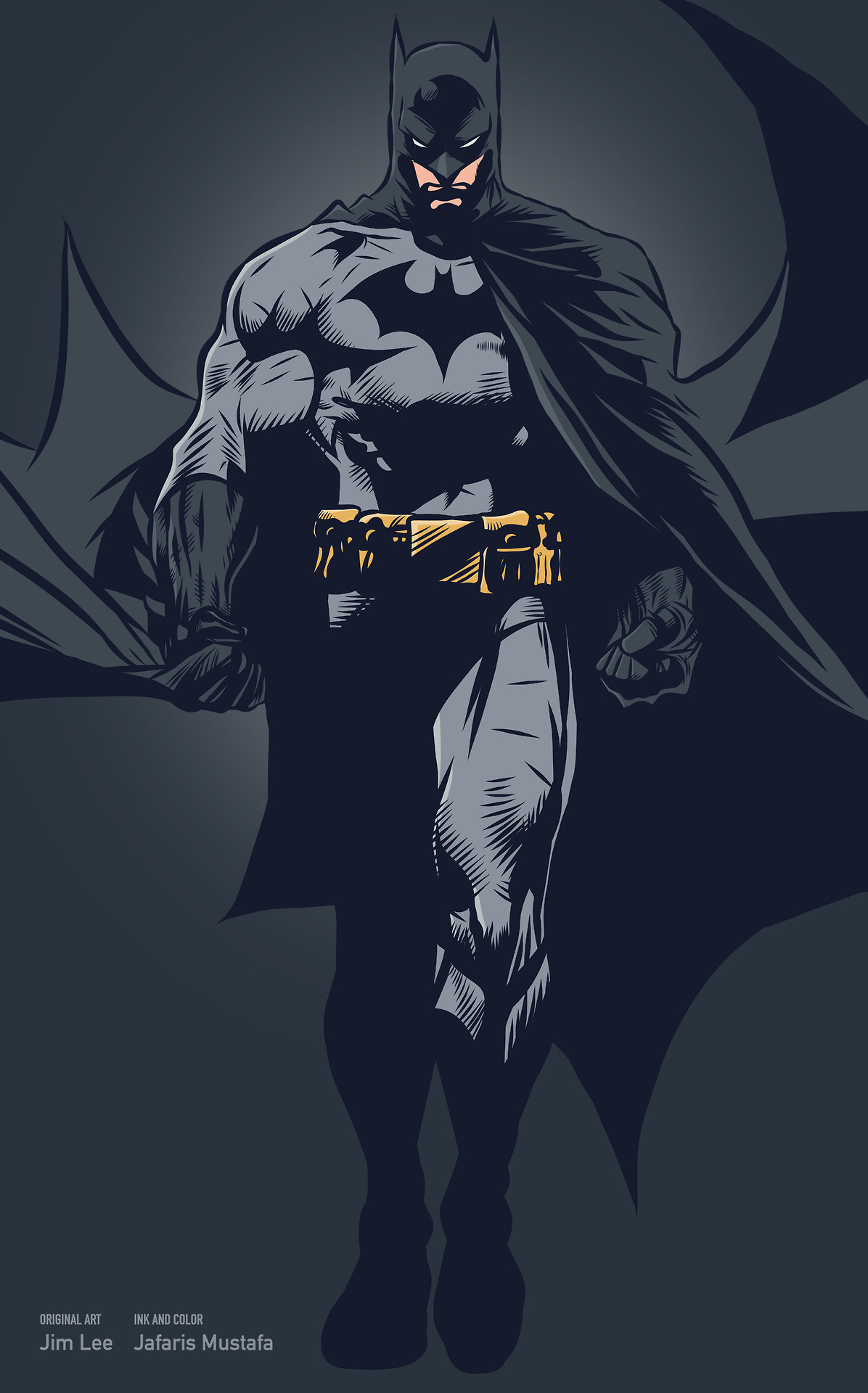 Res: 1196x1920, Batman by Jim Lee, inks and colours by Jarafris Mustafa