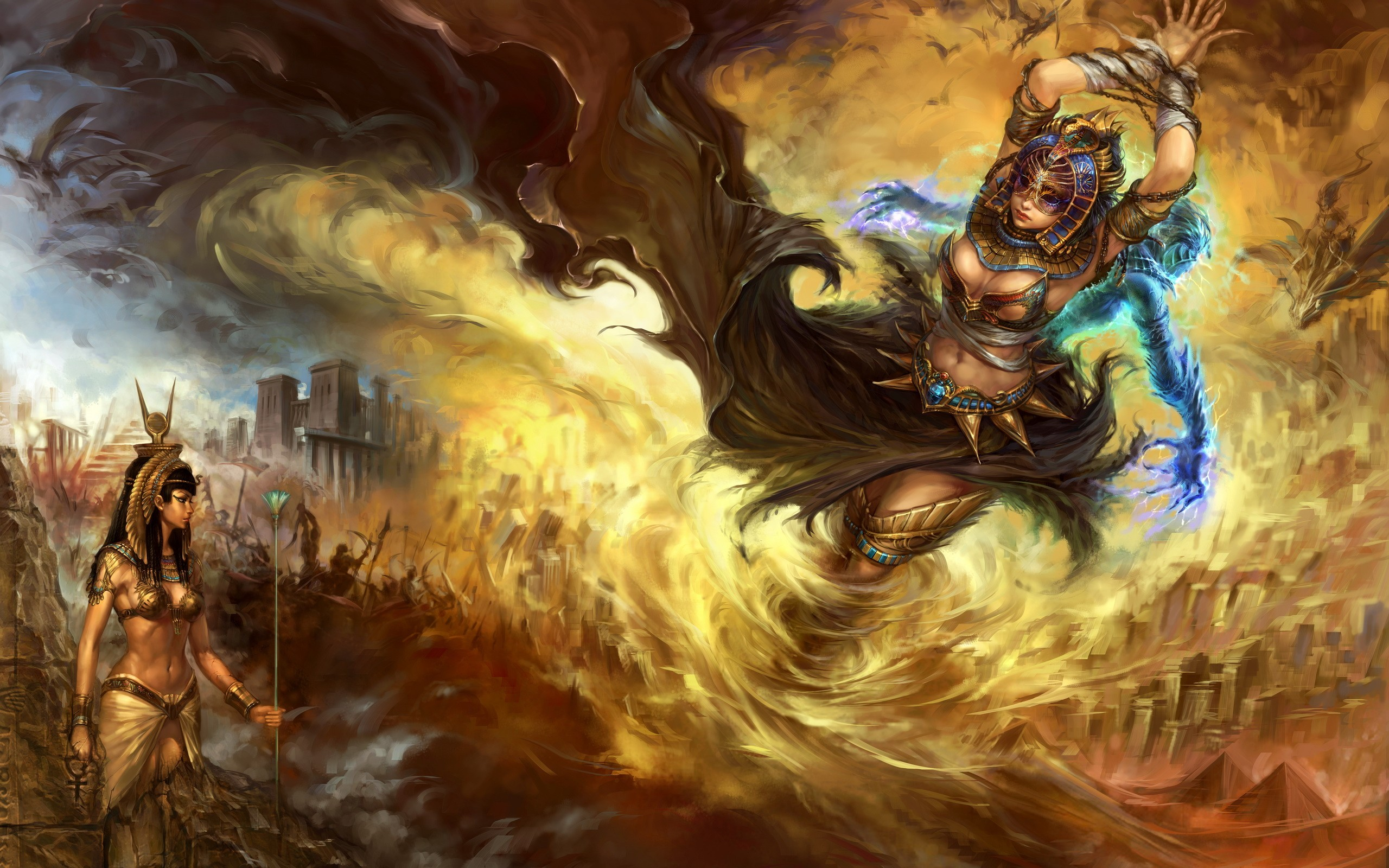 2560x1600 Egypt Fantasy Wallpaper Art Artwork