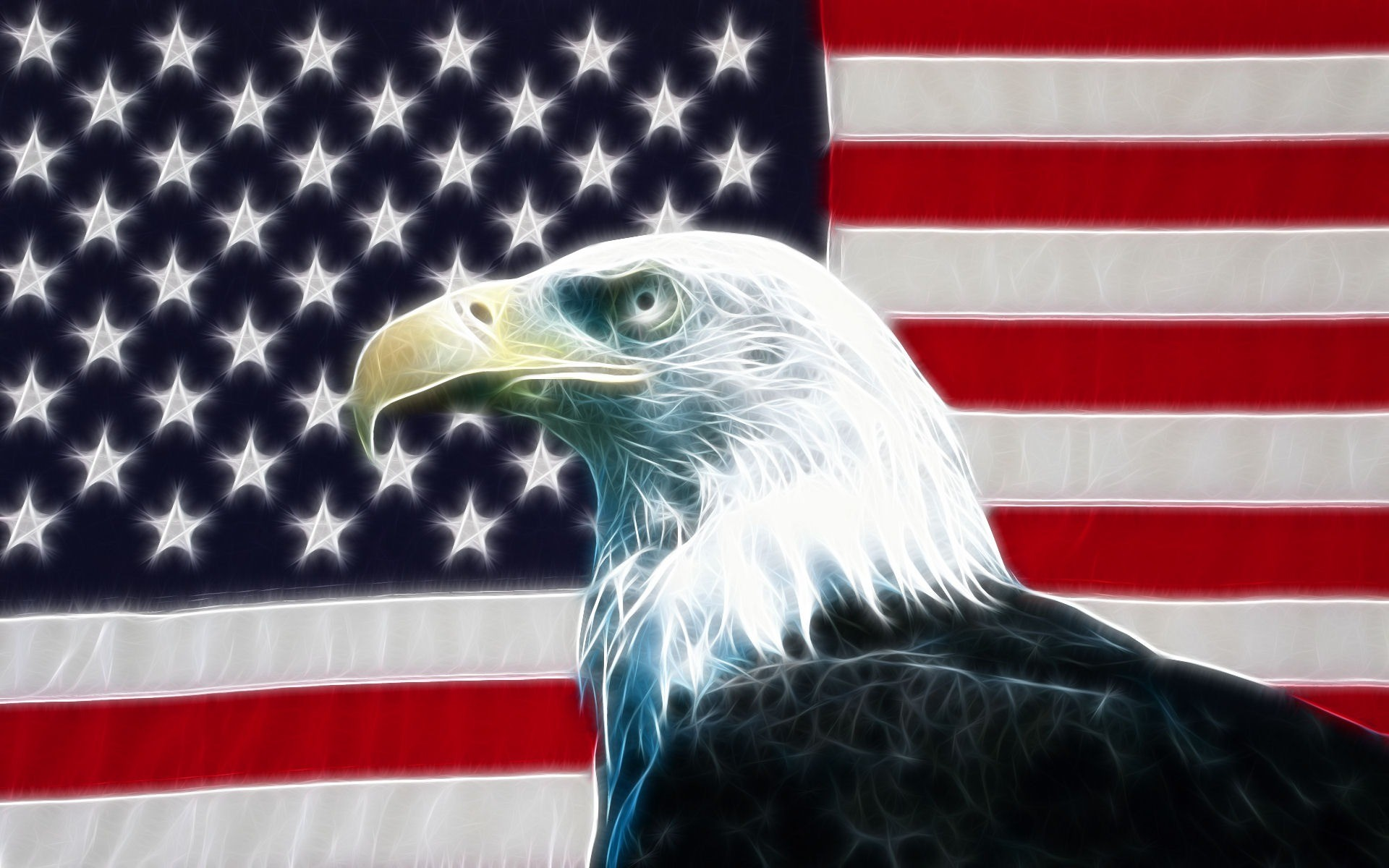 1920x1200 Eagle USA Flag Wallpaper Desktop