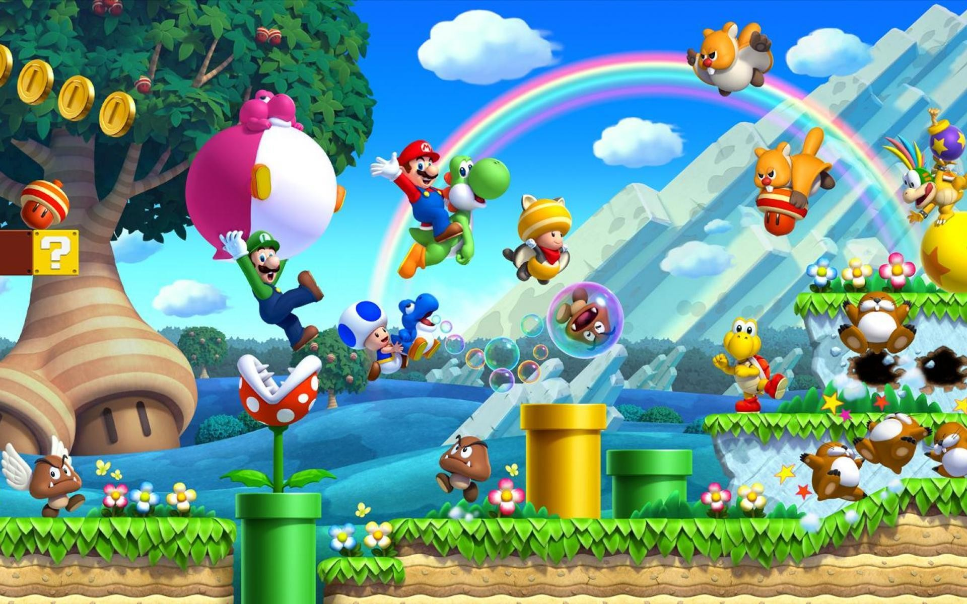 1920x1200 New Super Mario Bros U [WIDE] ...
