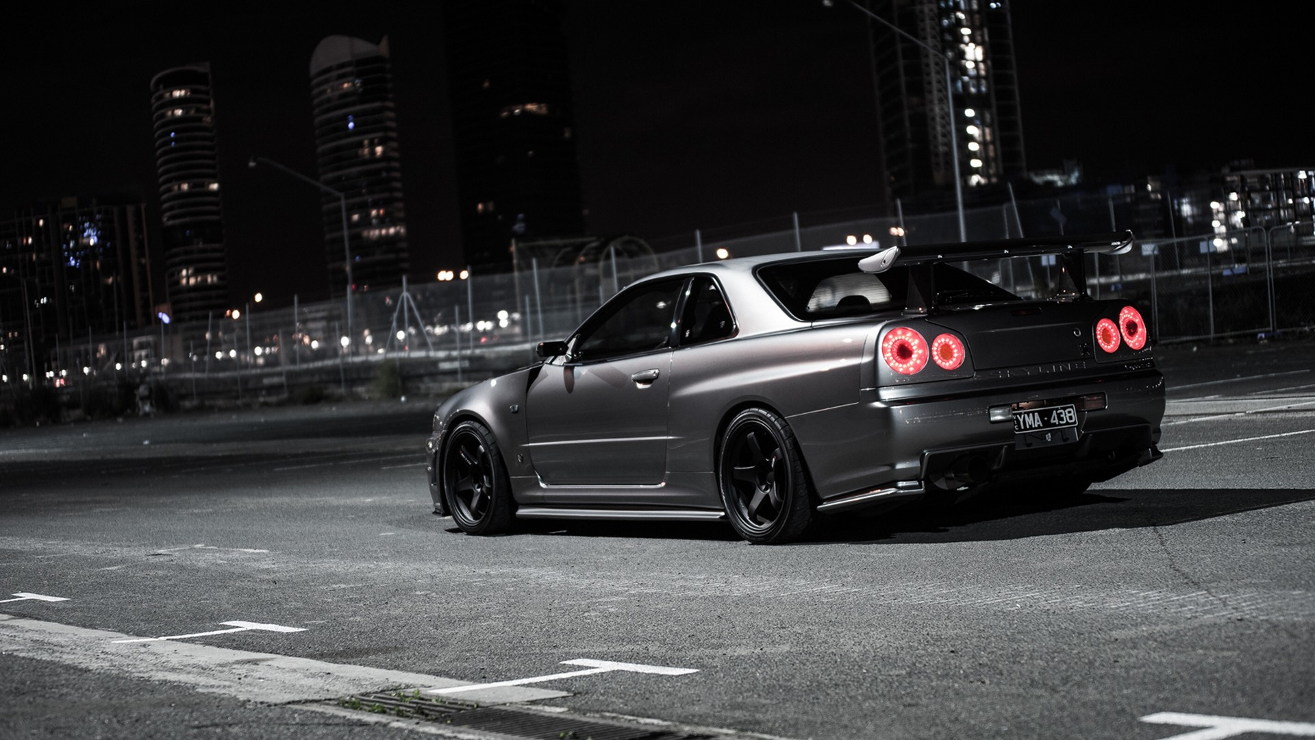1920x1080 Nissan Skyline GT R R34 Night » Holy Drift   HD Car Wallpapers