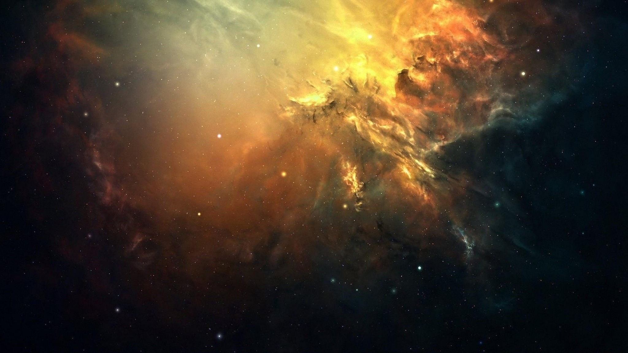 2048x1152 Preview wallpaper galaxy, space, light, stars, nebula