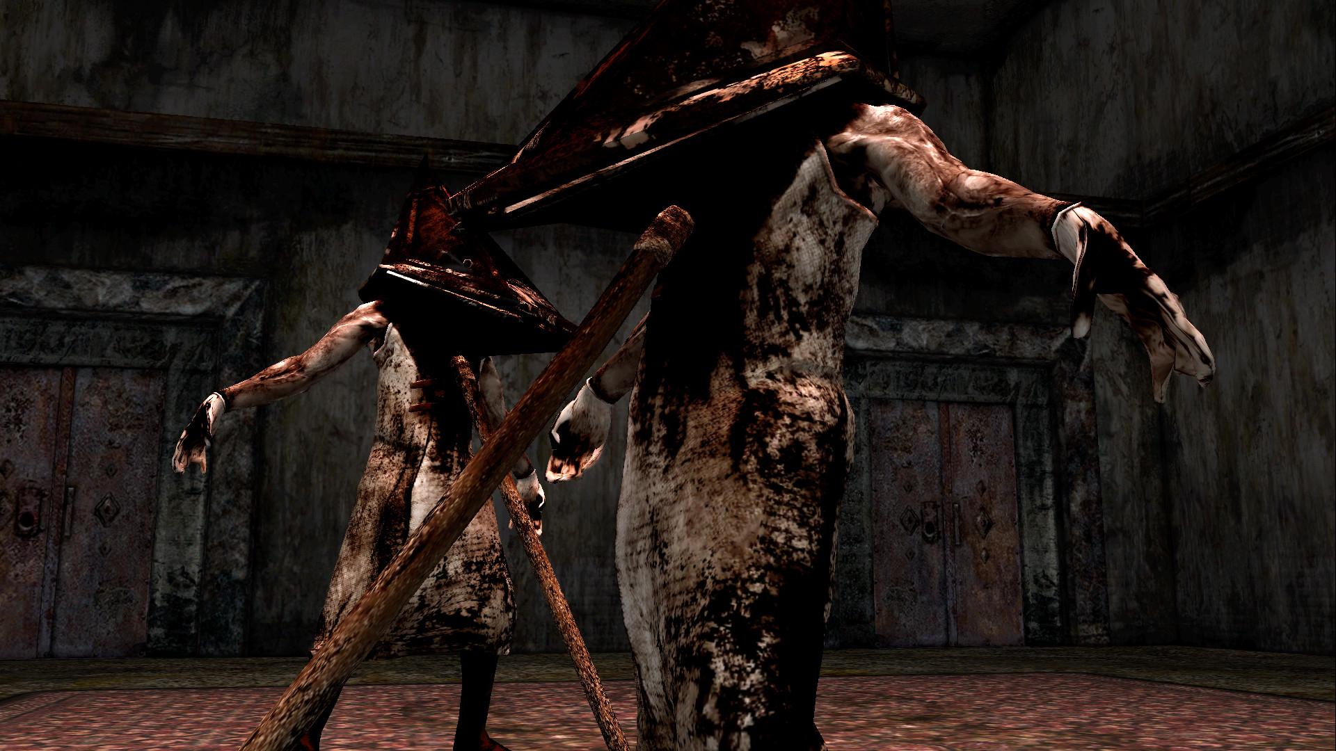 Silent hill 2 pyramid head wallpaper 59 images - Pyramid head boss fight ...