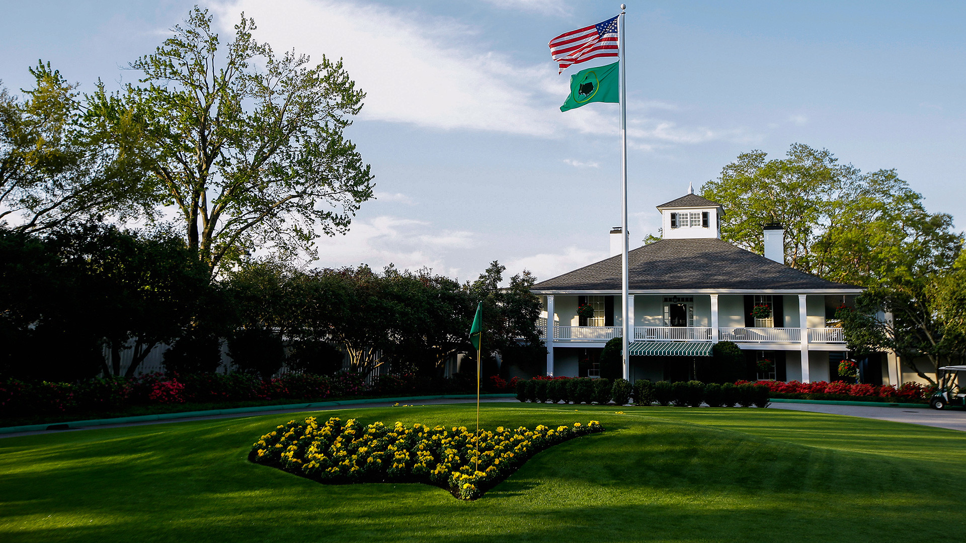 1920x1080 Masters leaderboard 2017: Charley Hoffman surges, Dustin Johnson sits after  round one · GOLF