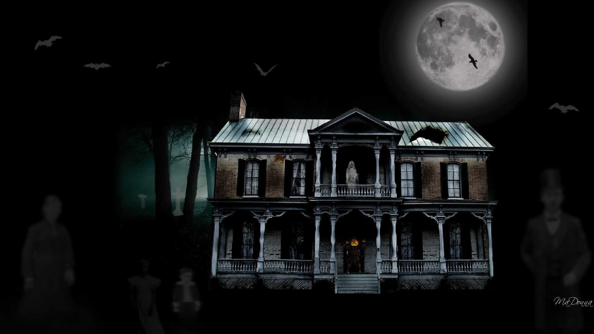 1920x1080 2560x1440 The Haunted Mansion Desktop Wallpaper
