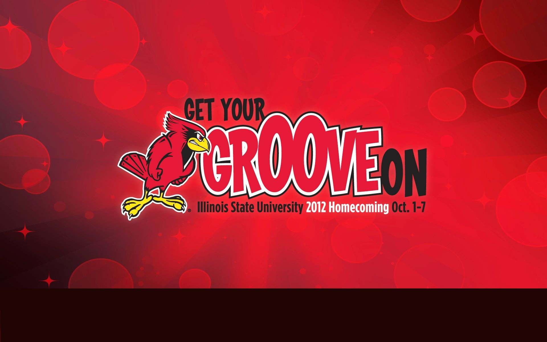 "1920x1200 ""Get Your Groove On"" Illinois State University Homecoming 2012 desktop  wallpaper."