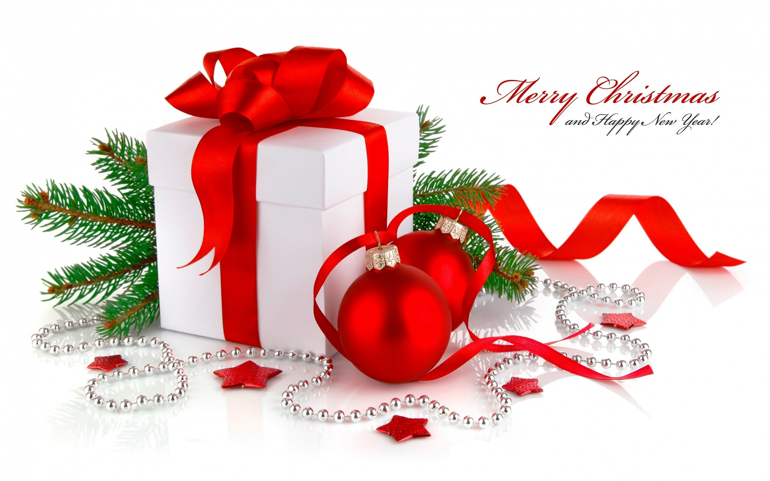 2560x1600 Christmas Gift New Year Wallpaper  26280