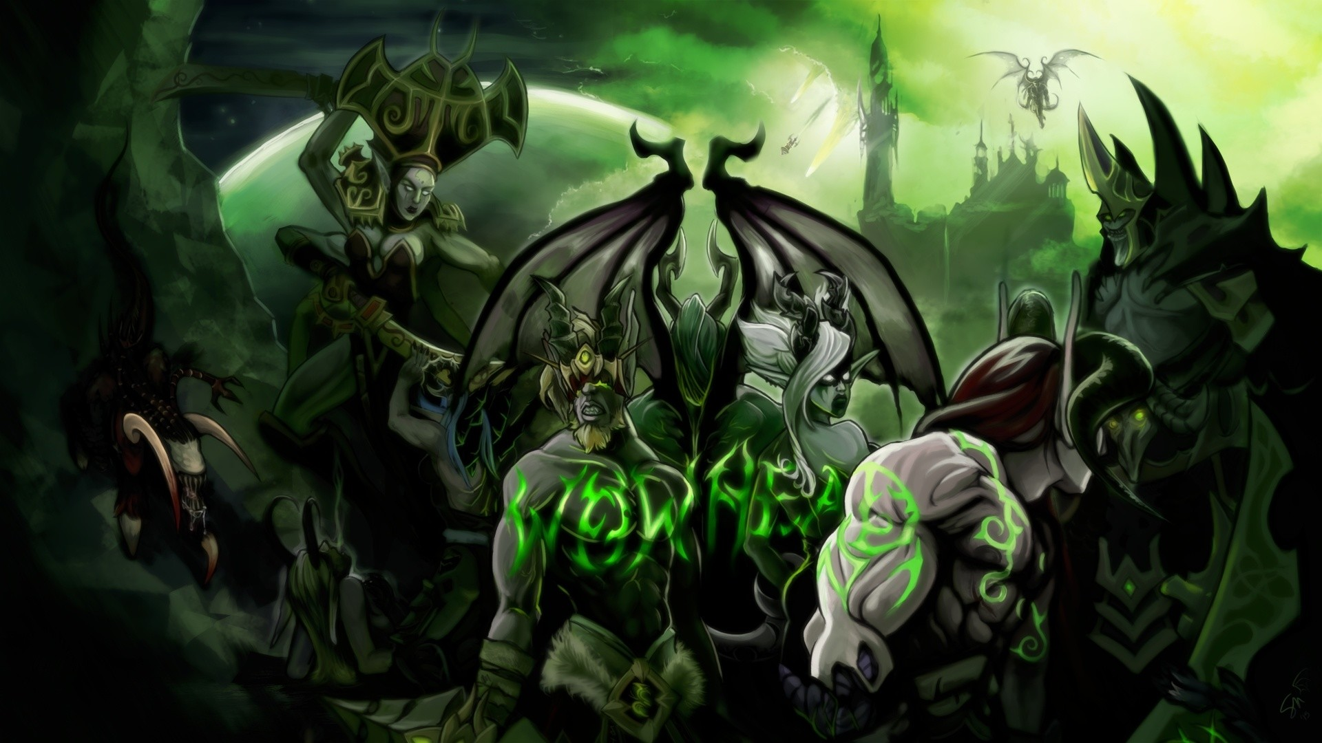 1920x1080 WOW Demon Hunter Wallpaper