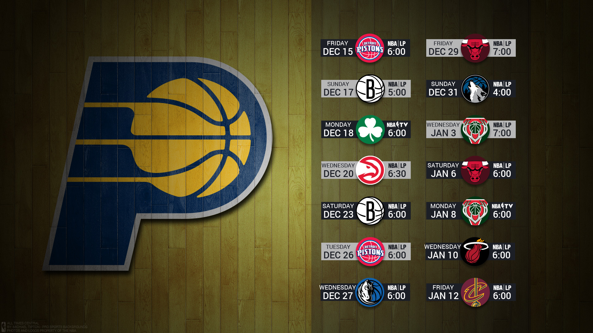 1920x1080 Eastern | Central | Pacific · Indiana Pacers 2017 nba basketball ...