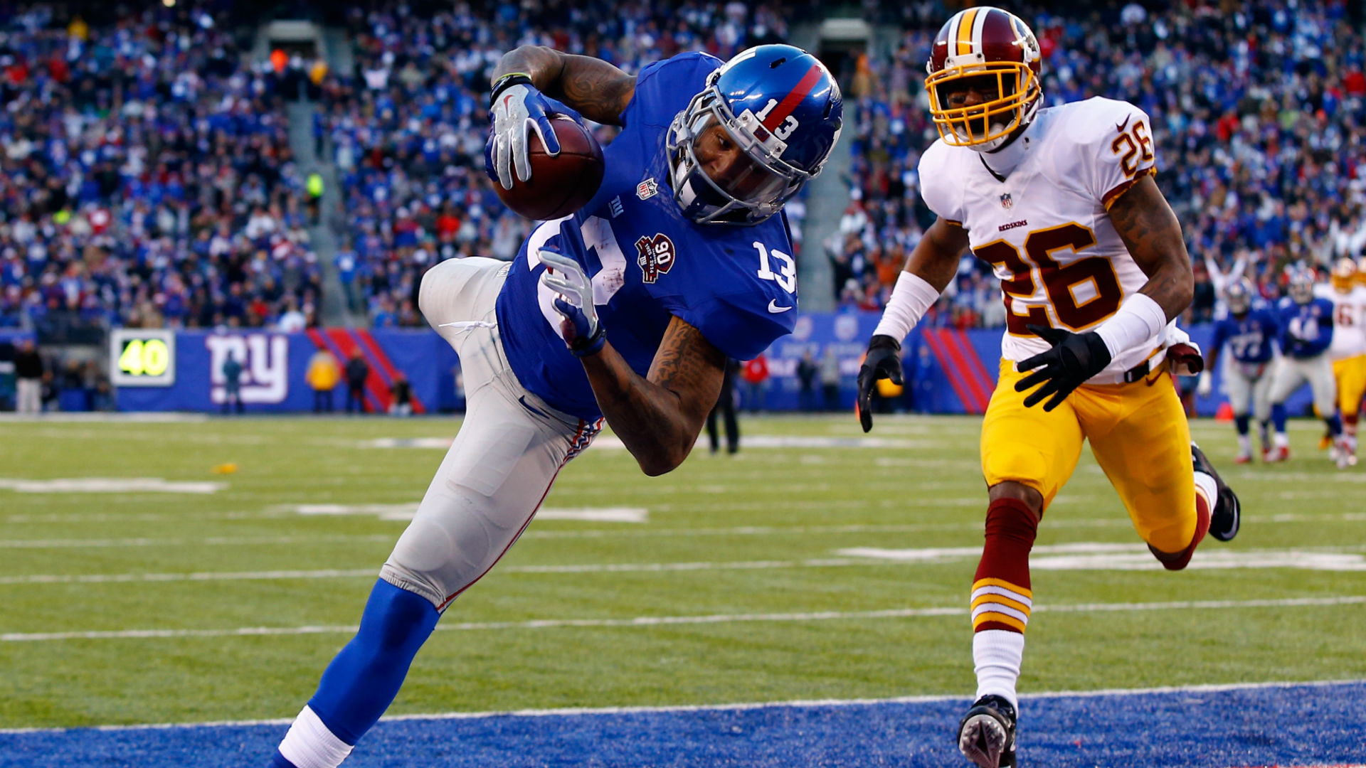 1920x1080 Odell Beckham catches AP Offensive Rookie of the Year Award | NFL |  Sporting News