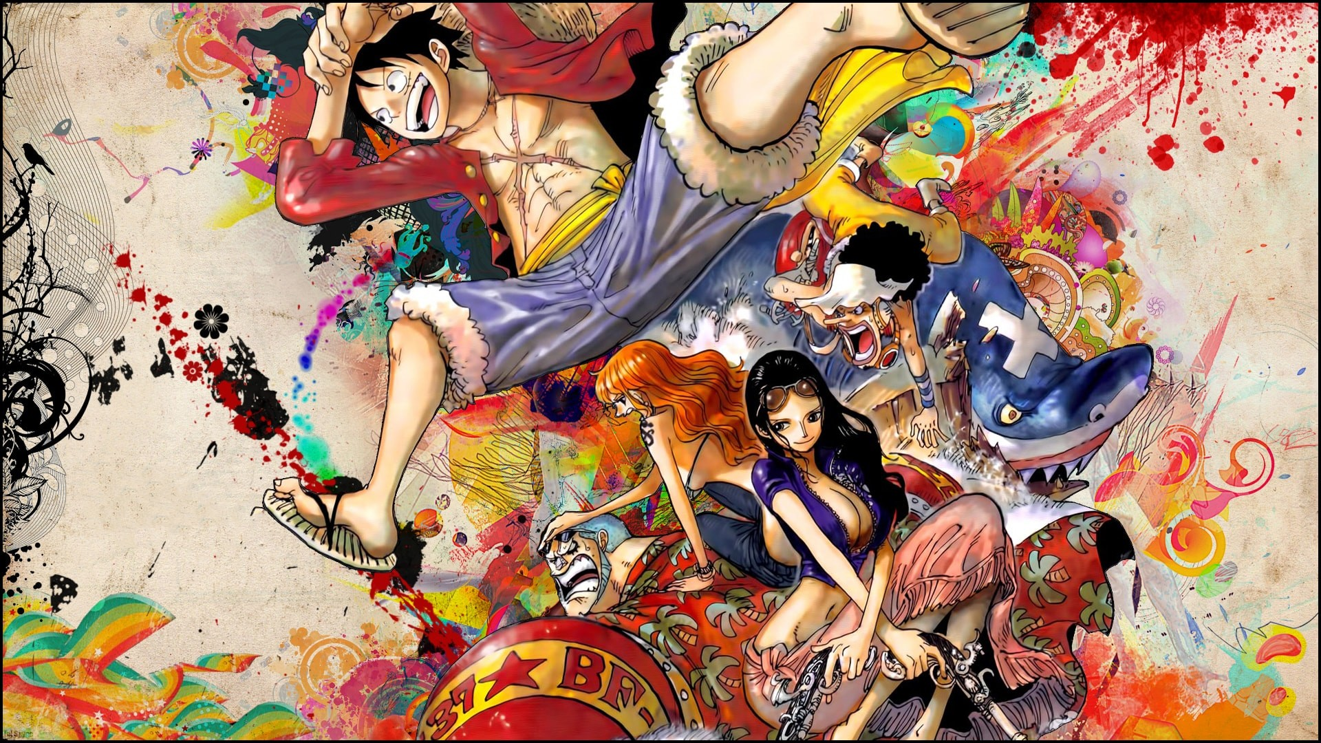 1920x1080 Wallpaper Anime Franky One Piece Nami Nico Robin Strawhat Pirates #105  CoolWallpapers.site