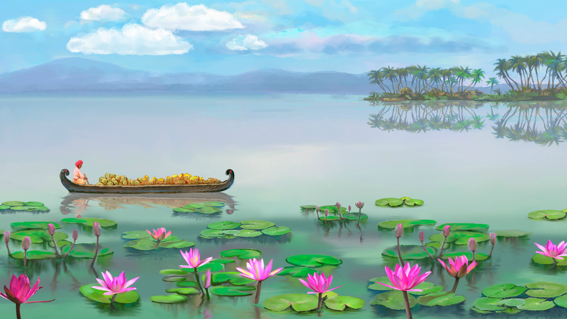 1920x1080 free animated wallpaper windows 8 | Take a relaxing tropical trip on the  river full of