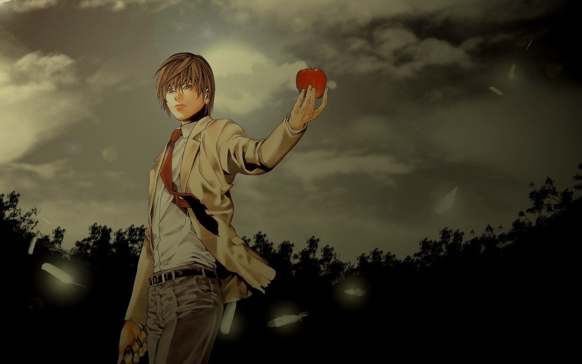 1920x1200 Death Note brunettes nature brown eyes Yagami Light standing anime anime  boys wallpaper |  | 243350 | WallpaperUP