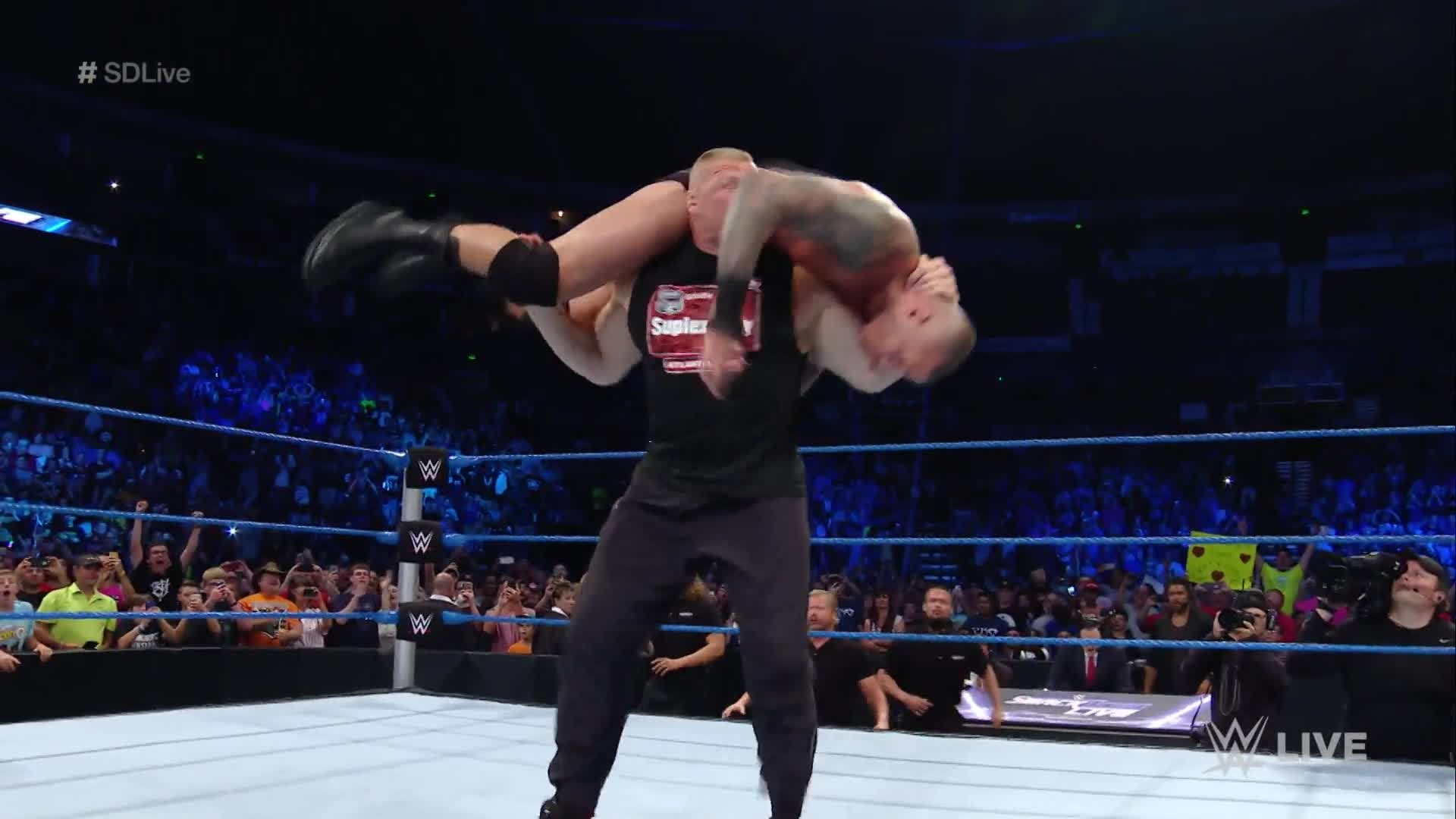 1920x1080 Lesnar responds to Orton's Monday Night Raw attack