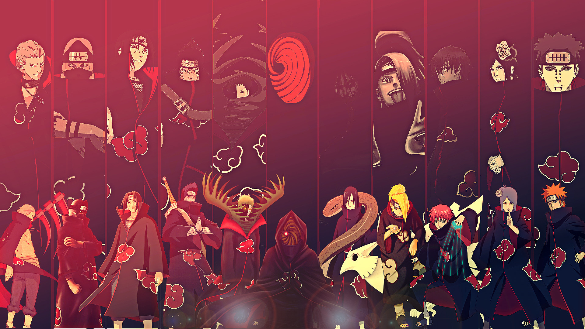 1922x1083 View, download, comment, and rate this  Akatsuki Members Wallpaper  - Wallpaper Abyss