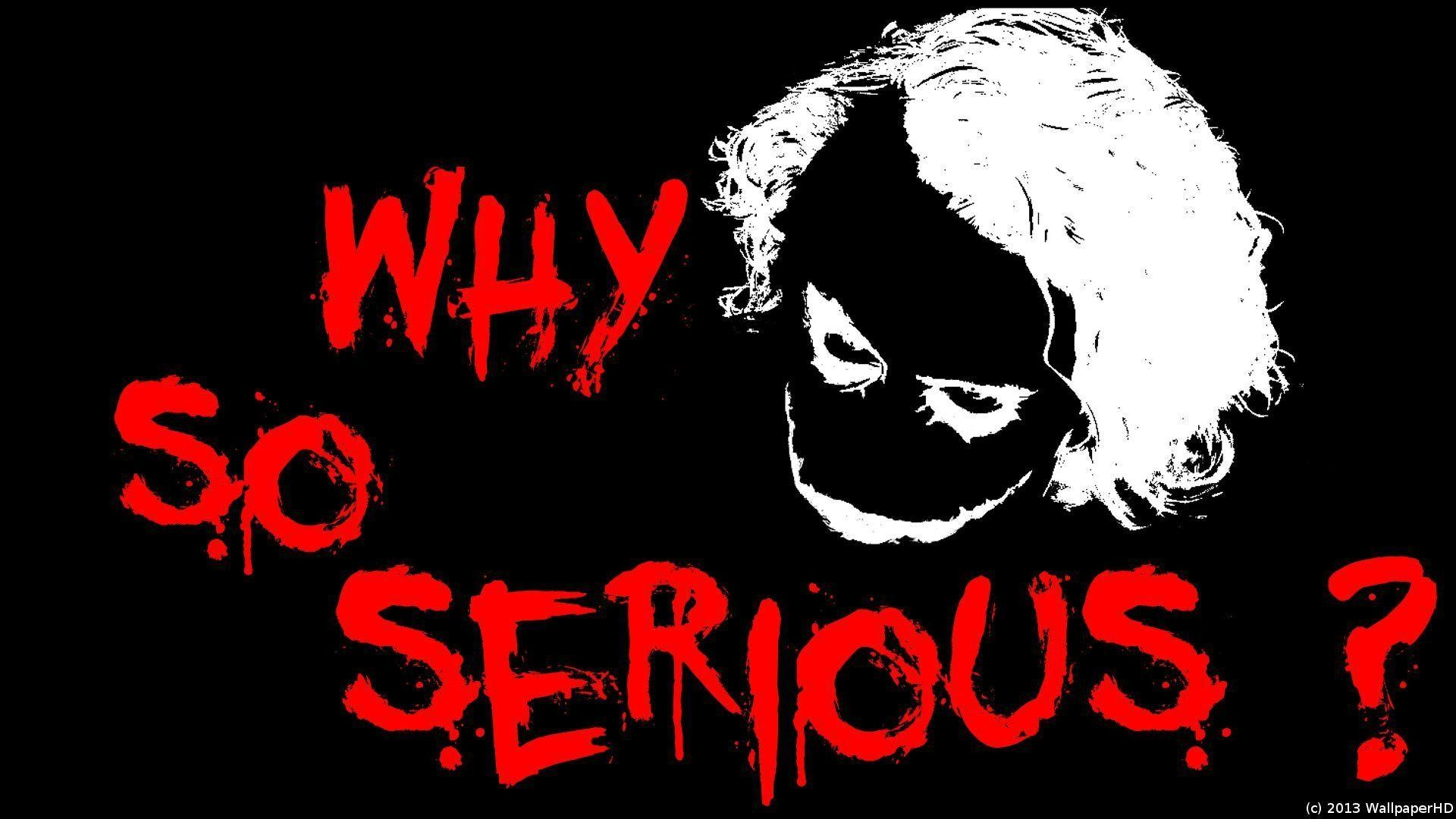 1920x1080 why-so-serious-Joker-Wallpaper-by-WallpaperHD by WallpaperHD on