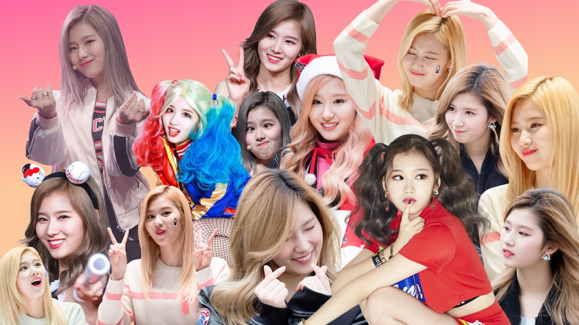 1920x1080  Sana, Tzuyu, and Dahyun collage wallpapers
