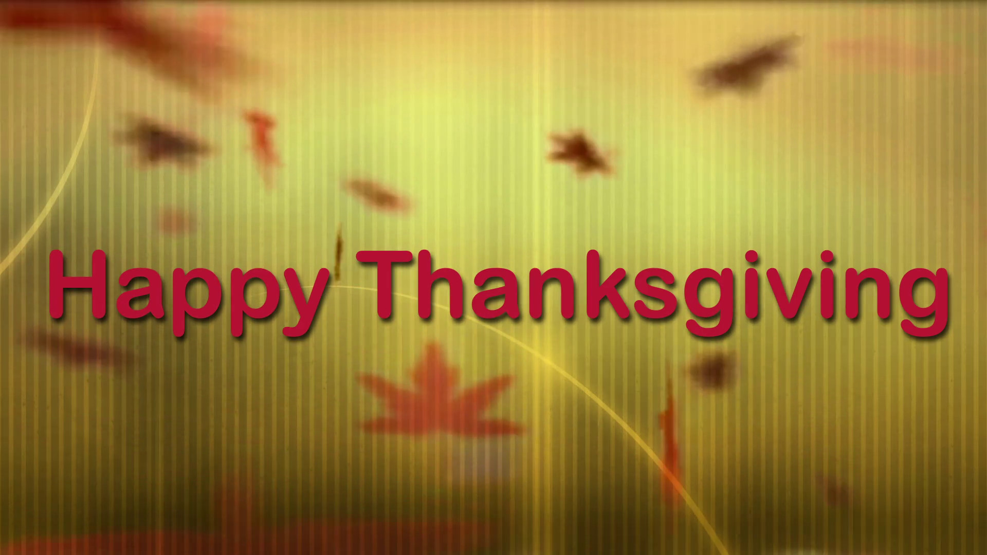 1920x1080 Happy Thanksgiving 02 - Virtual Green Screen Background Loop