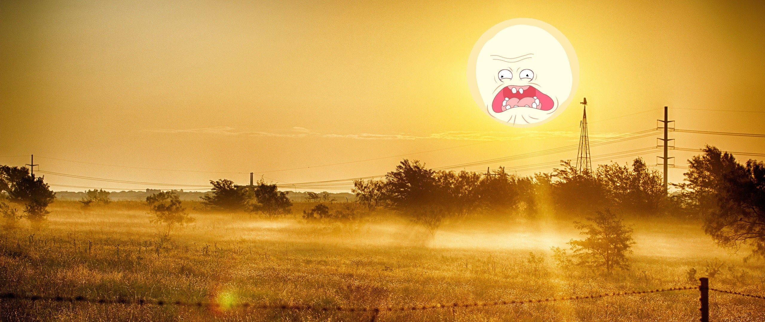 2560x1080 Screaming Dawn Summer Time