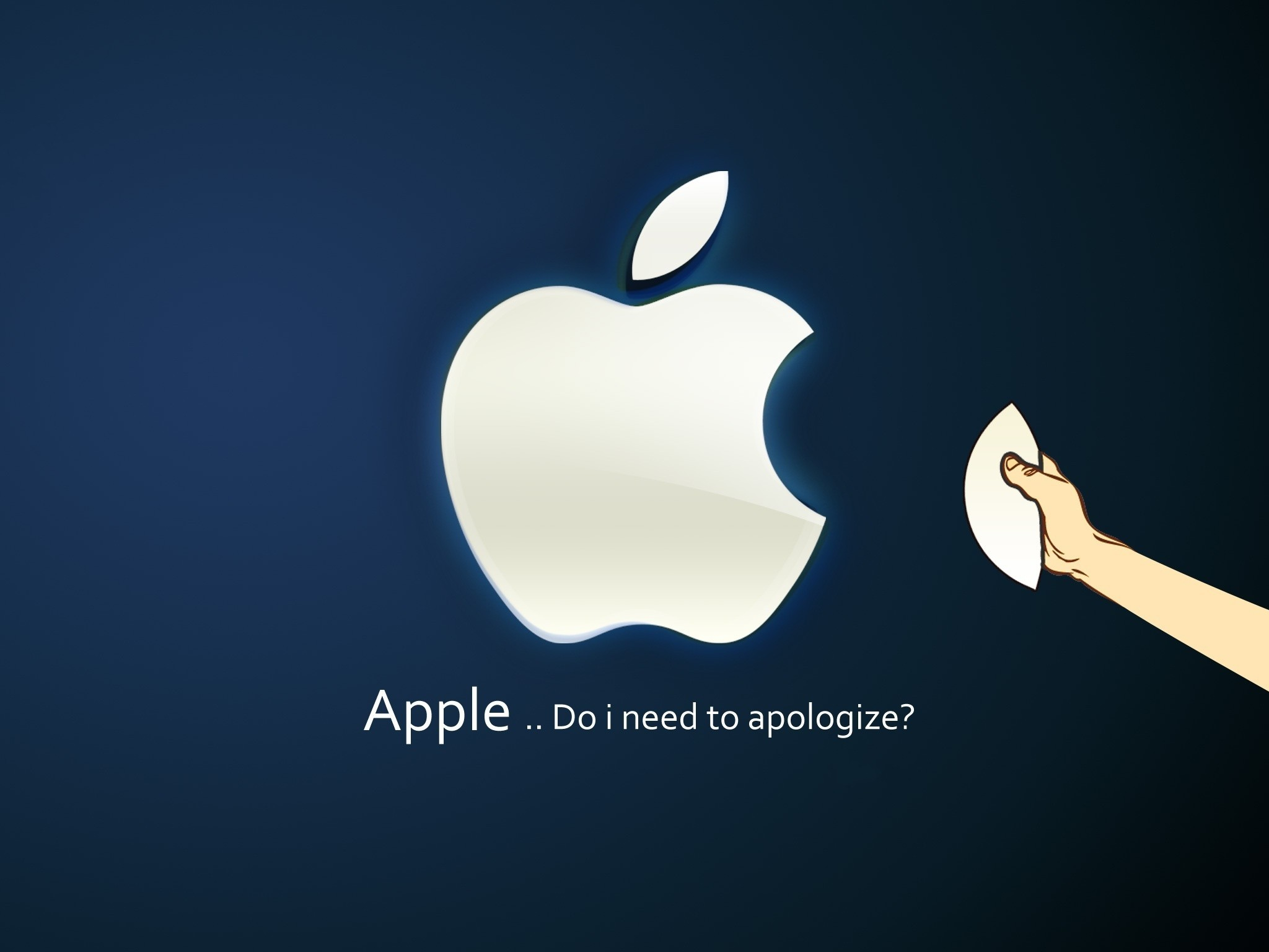 2048x1536  HD blue apple randy wallpapers for Tablets