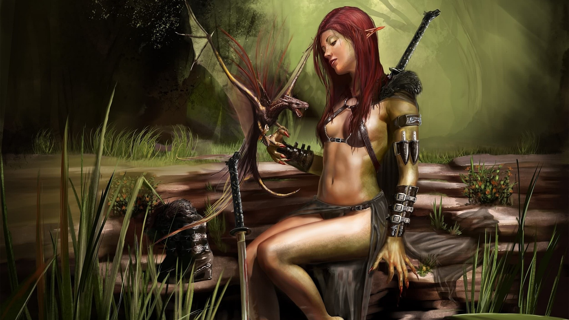 1920x1080 Women Warrior. | fantasy women warrior Wallpaper Backgrounds