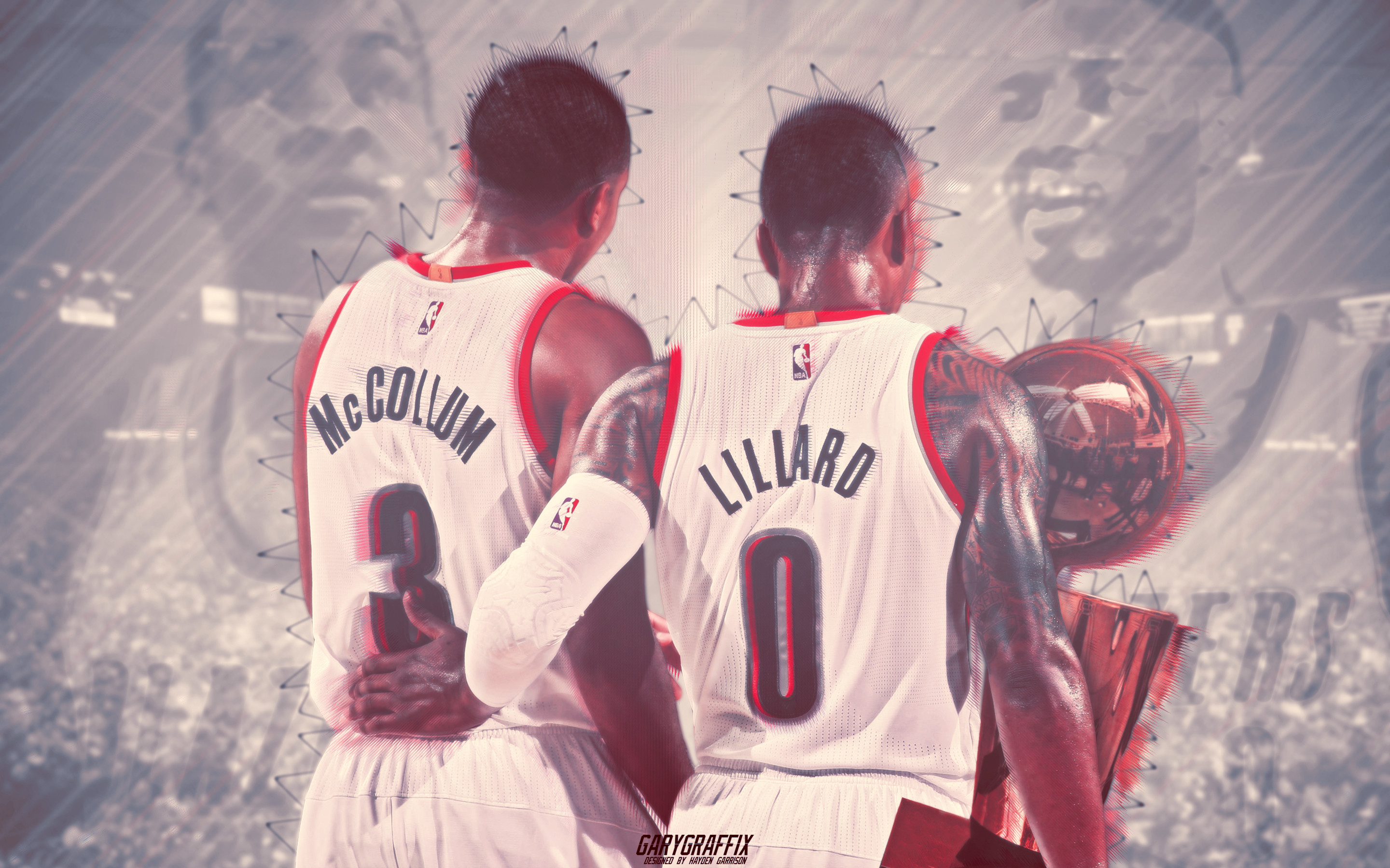 2880x1800 NBA Finals Damian Lillard x CJ McCollum - Trailblazers Wallpaper