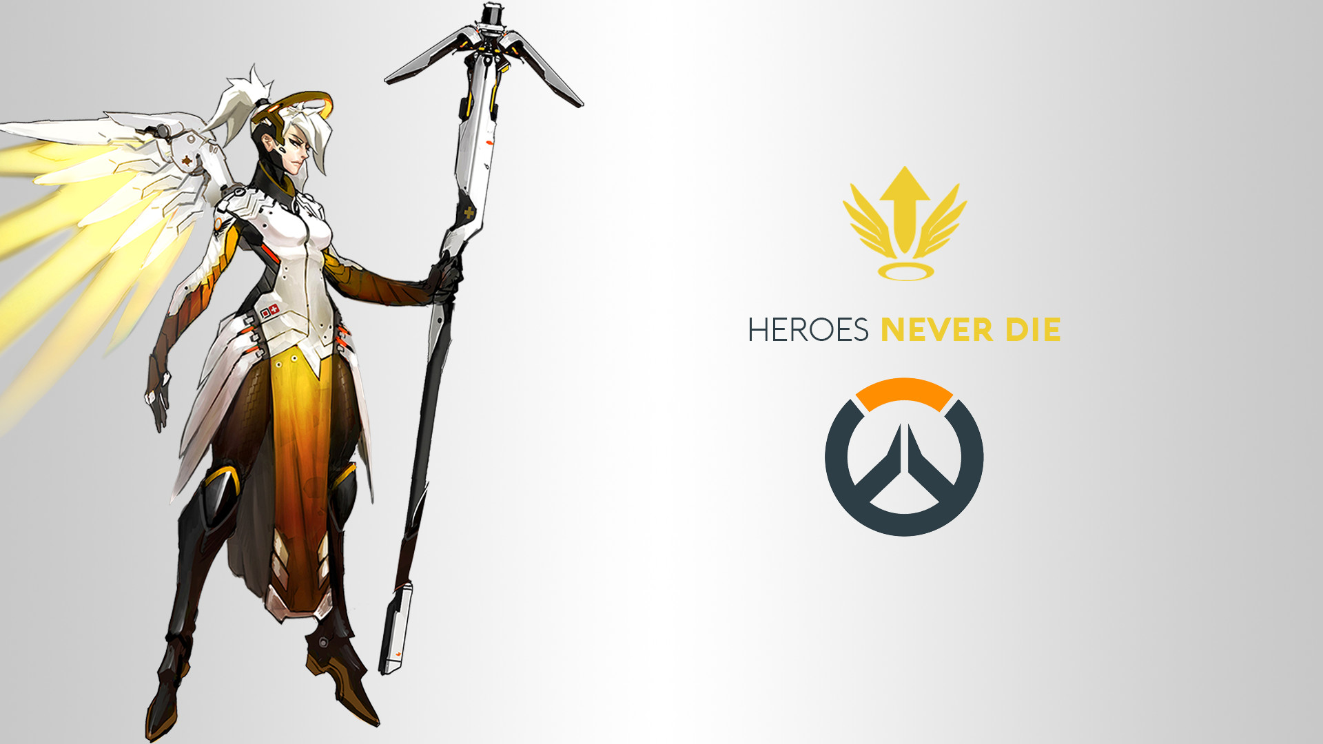 1920x1080 Wallpaper Mercy, Overwatch, 4K, Games, #7597