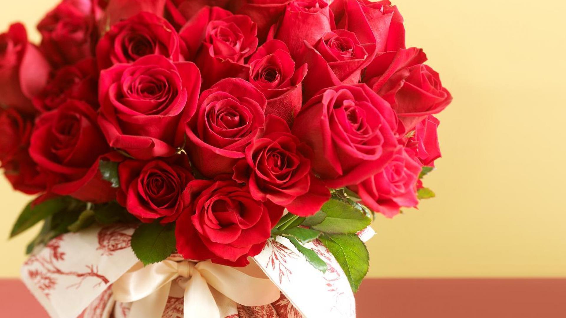 Картинки красные розы букет