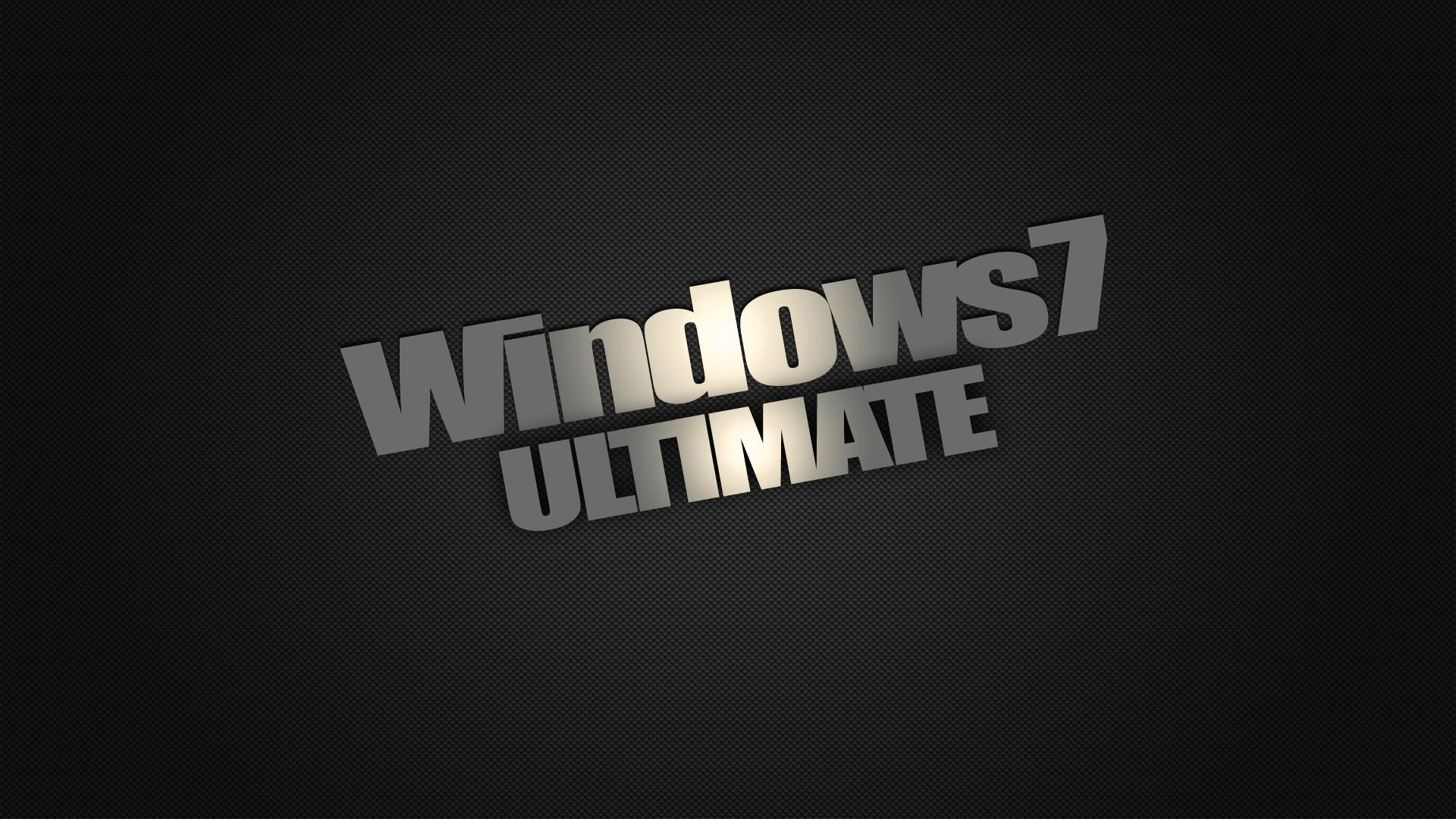 1920x1080 Windows 7 Dark Edition Ultimate Wallpaper HD | High Definition .