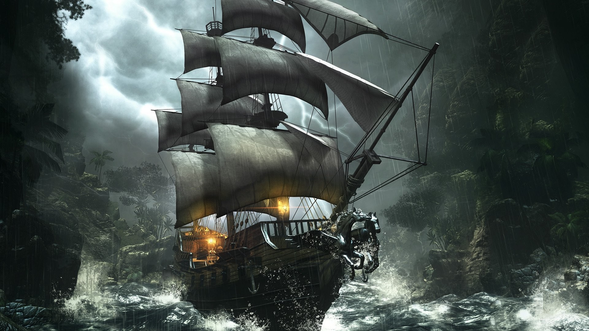 1920x1080 Find out: Pirate Ship wallpaper on http://hdpicorner.com/pirate-ship/ |  Desktop Wallpapers | Pinterest | Pirate ships, Wallpaper and Ships