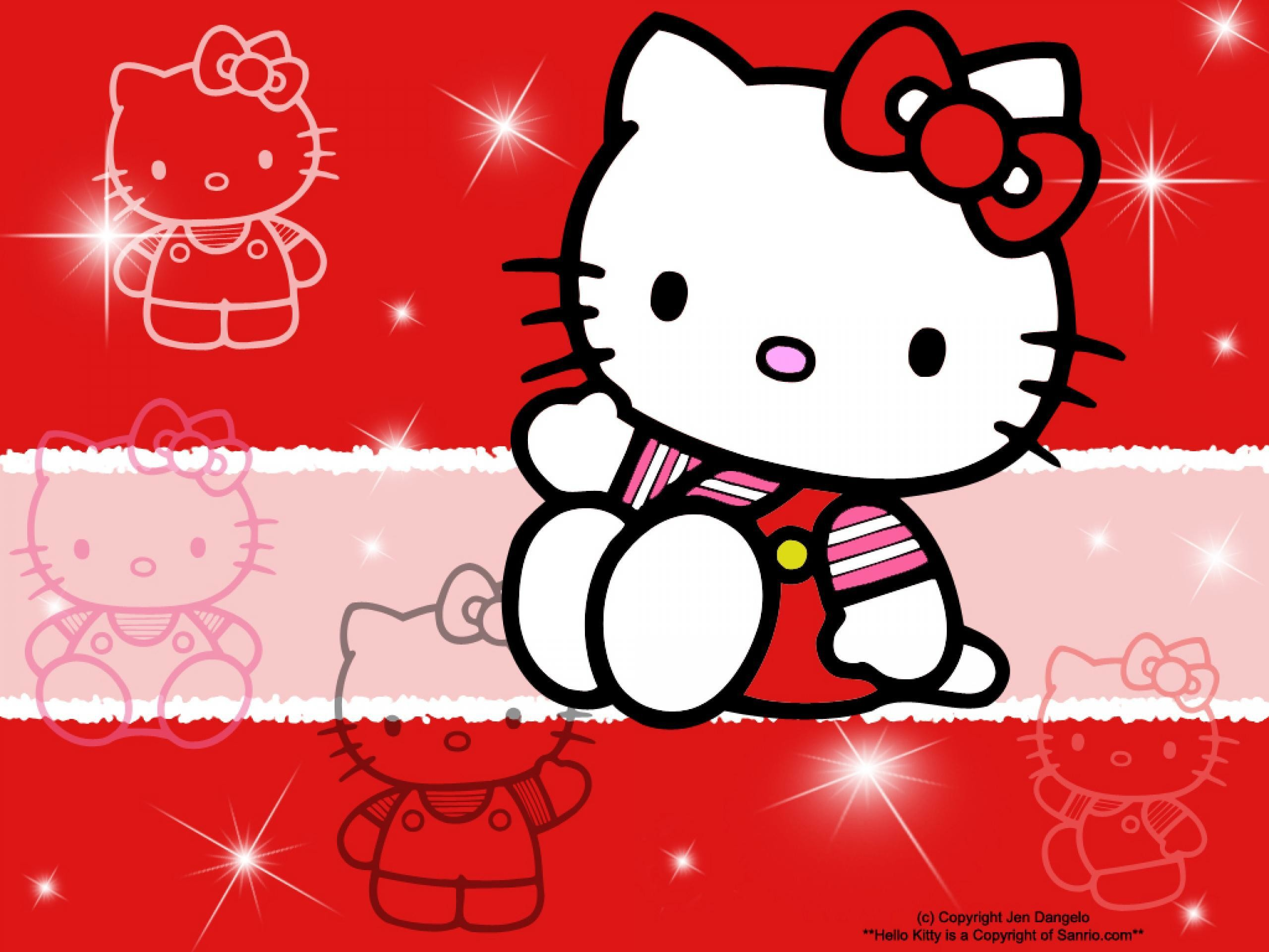 2560x1920 hello kitty red wallpaper