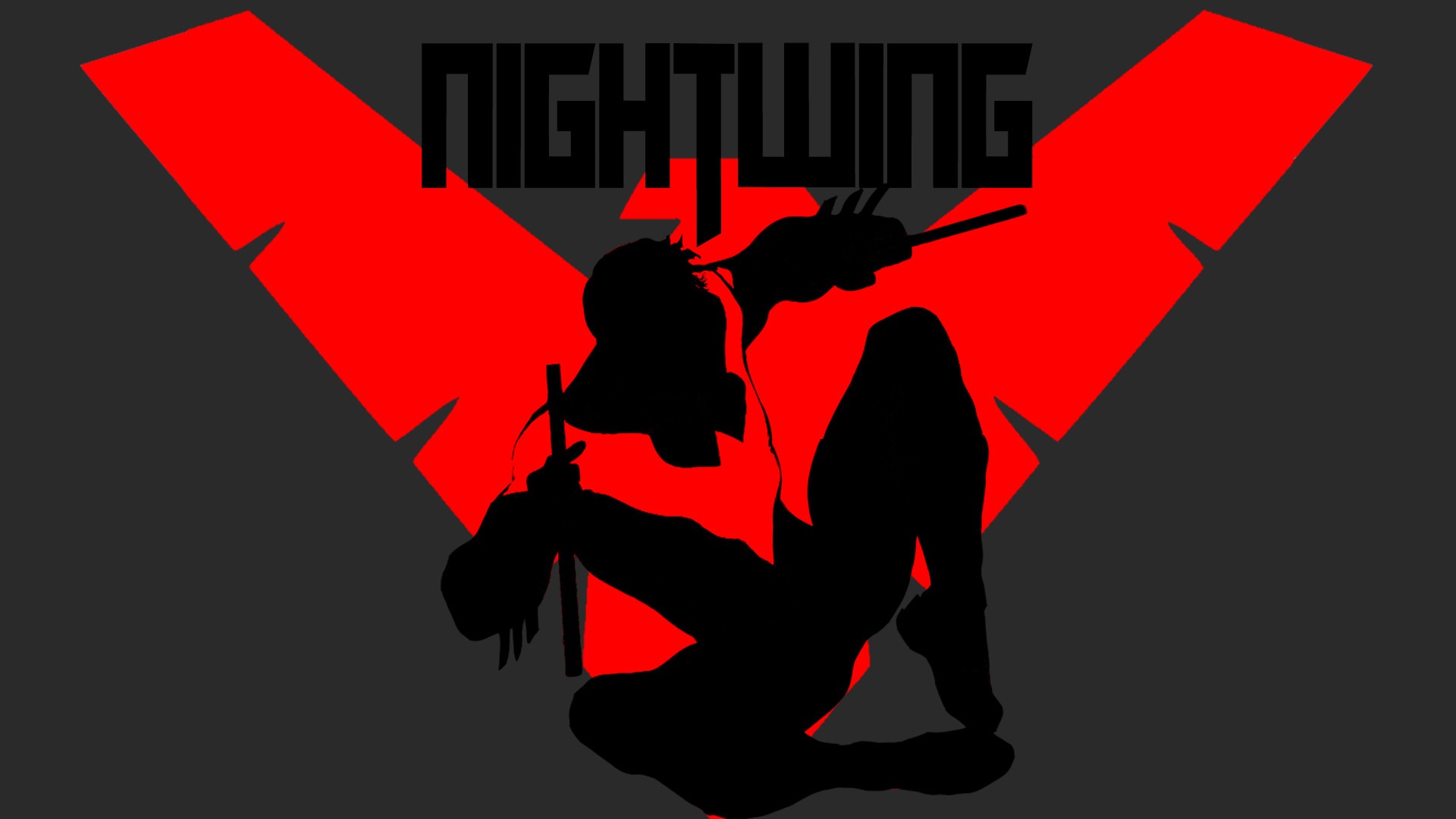 1920x1080 Nightwing Symbol Wallpaper Nightwing pop-art wallpaper by