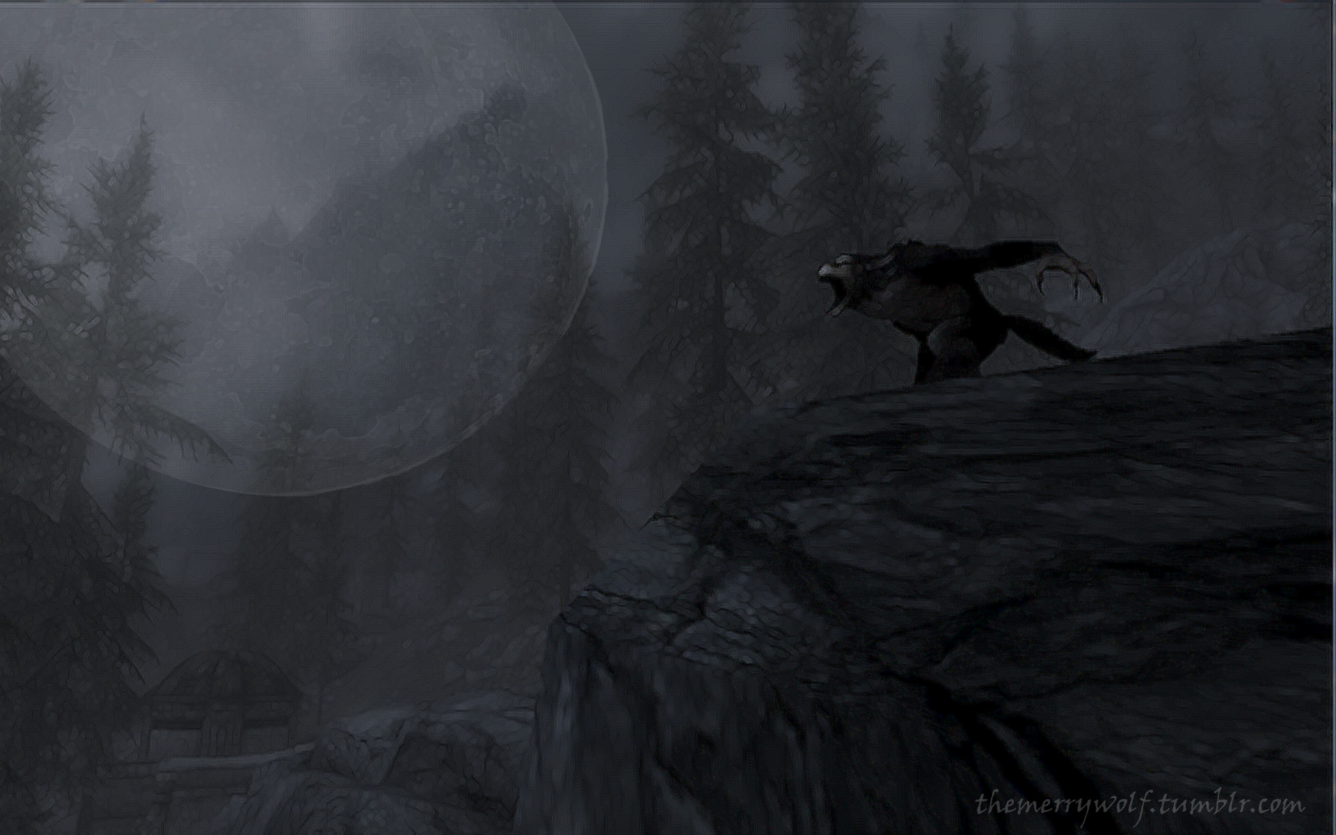 1920x1200 Skyrim Werewolf Wallpaper by TheMerryWolf Skyrim Werewolf Wallpaper by  TheMerryWolf