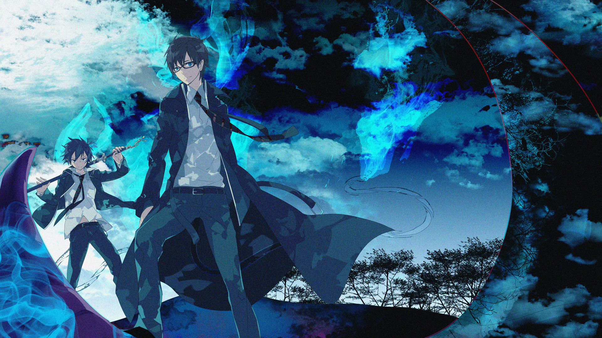 1920x1080 Blue Exorcist Rin Demon Form Wallpapers