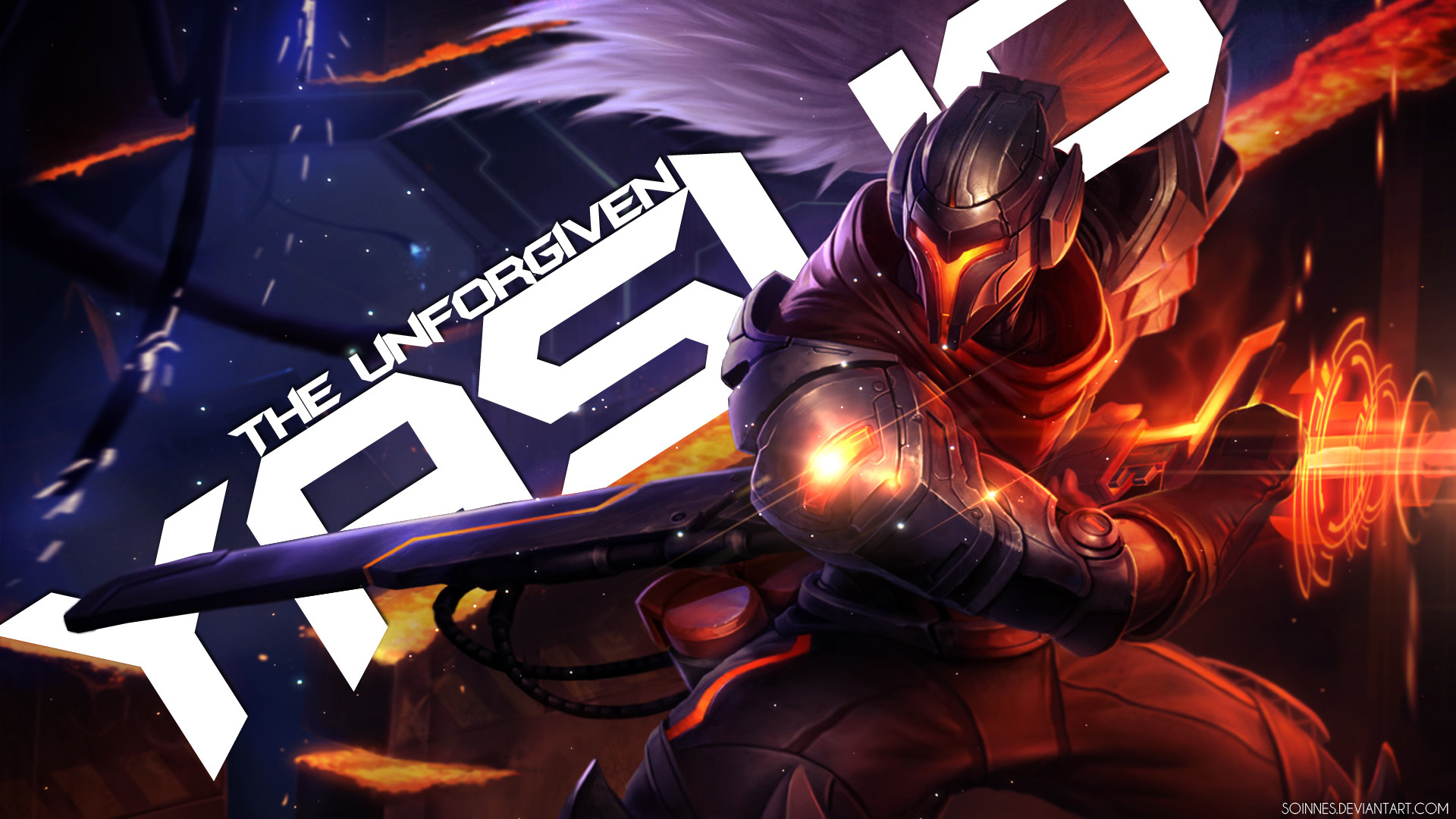 1920x1080 ... Yasuo the Unforgiven - League of Legends Wallpaper by Soinnes