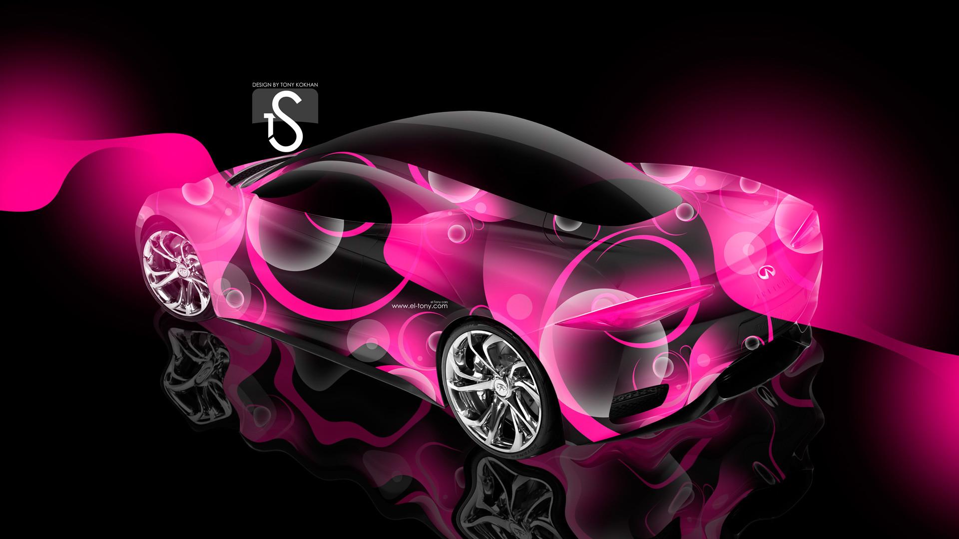 1920x1080 Bugatti Veyron Pink Neon Tiger Fantasy Plastic Car