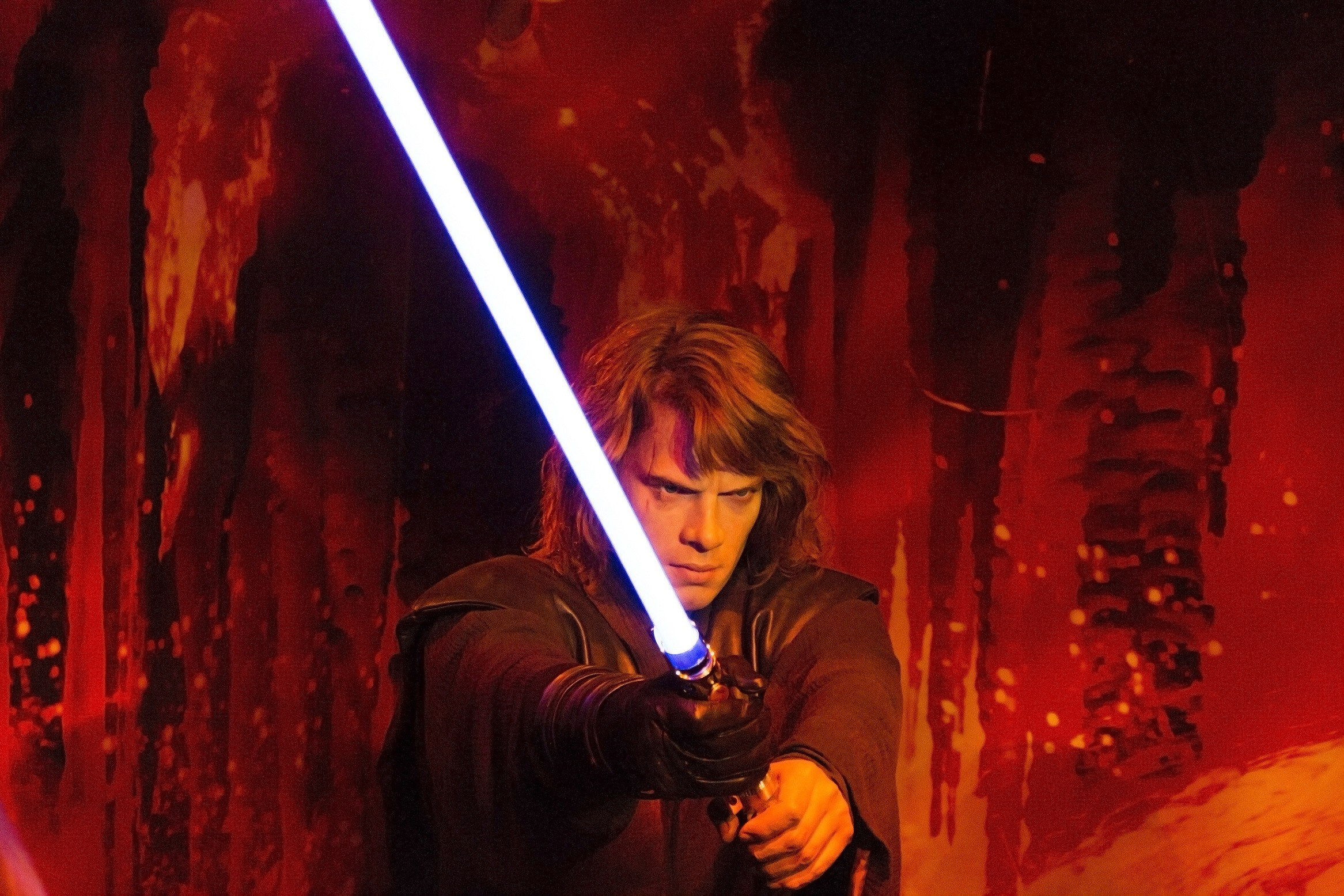 2333x1556 Sci Fi - Star Wars Anakin Skywalker Statue Sci Fi Lightsaber Red Wallpaper