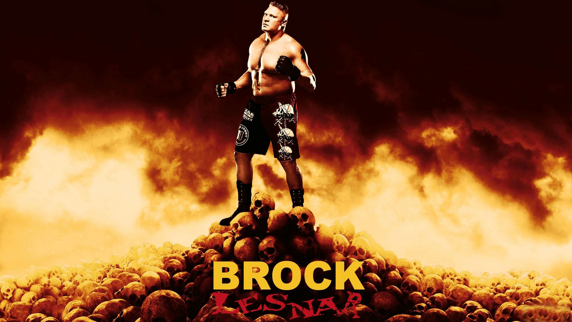 1920x1080 WWE Brock Lesnar Widescreen HD Wallpaper