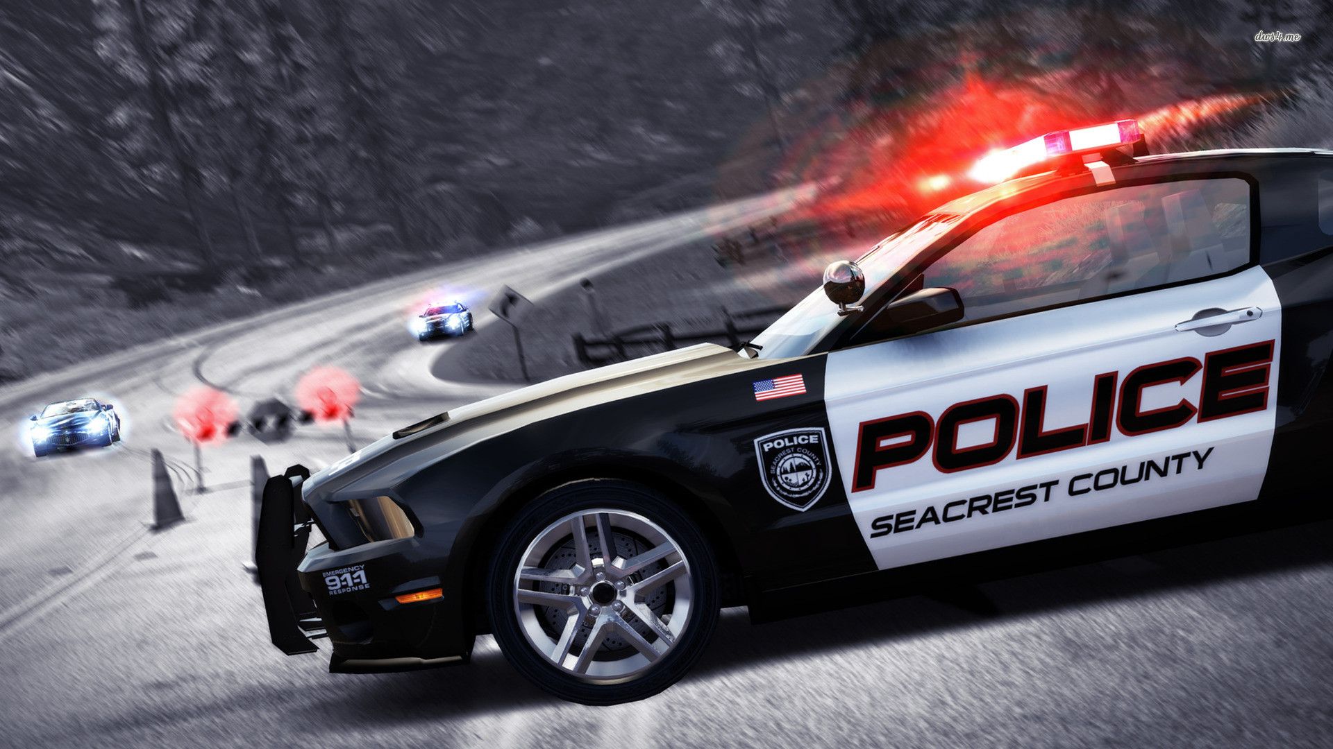 1920x1080 Need for Speed - Hot Pursuit police car wallpaper