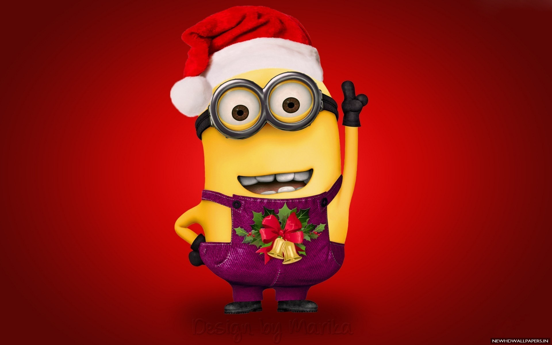 1920x1200 Minion Wearing Merry Christmas Wallpaper