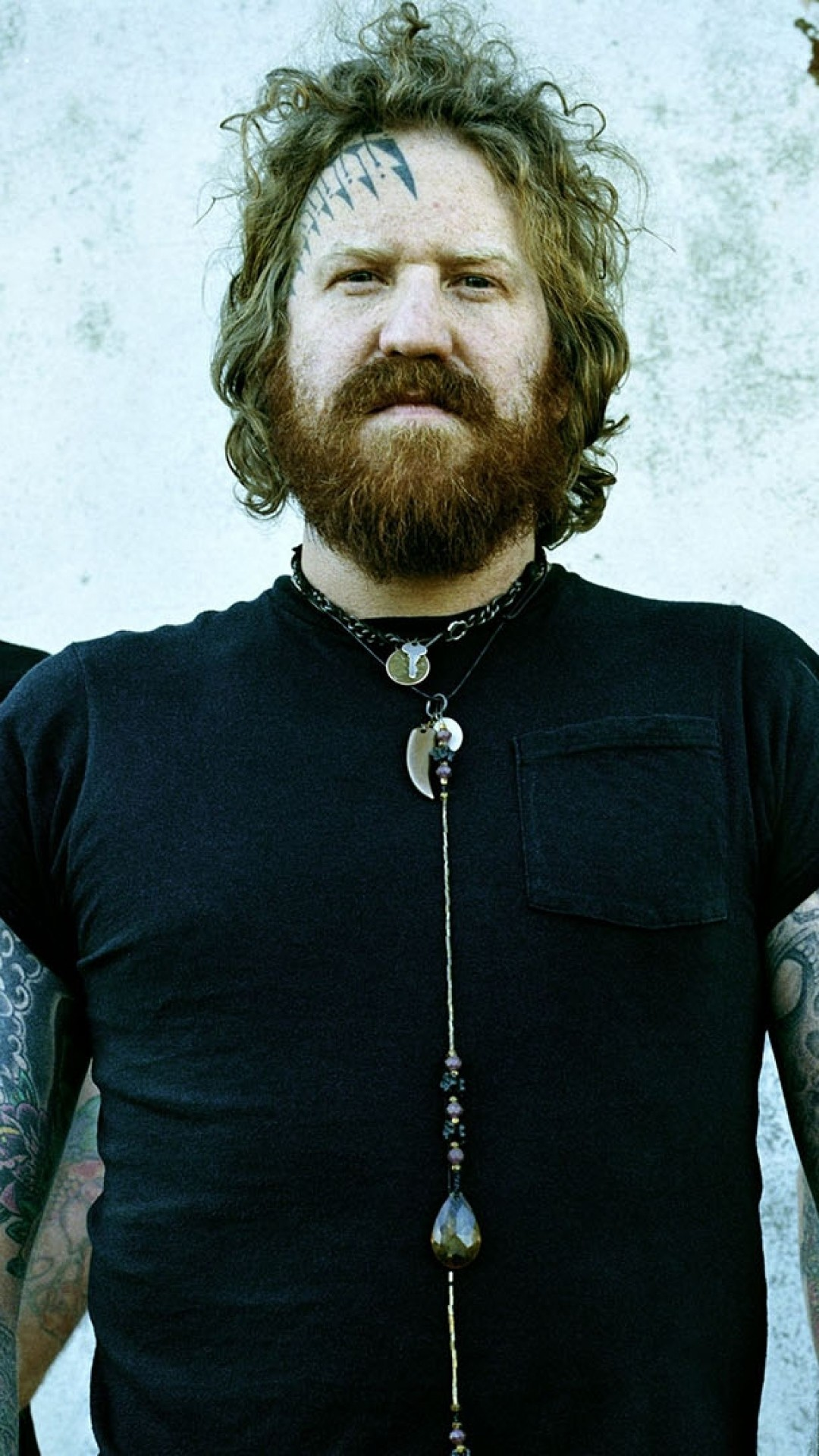 1080x1920  Wallpaper mastodon, earrings, t-shirts, chain, beard