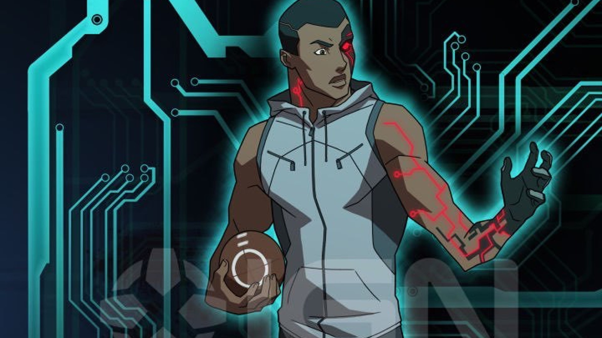 1920x1080 Here's our first look at what Victor Stone will look like as Cyborg in DC  Universe's Young Justice: Outsiders. The character is about to make his  Young ...