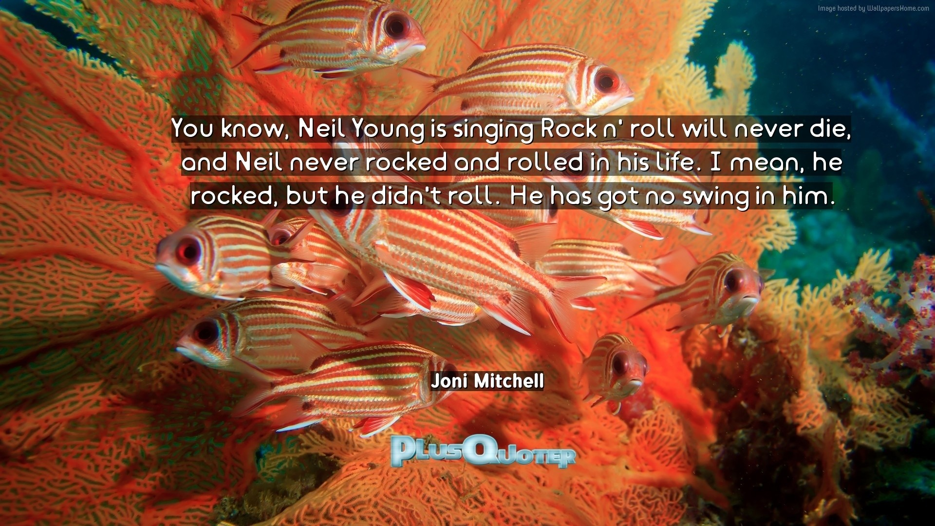 "1920x1080 Download Wallpaper with inspirational Quotes- ""You know, Neil Young is  singing Rock n"