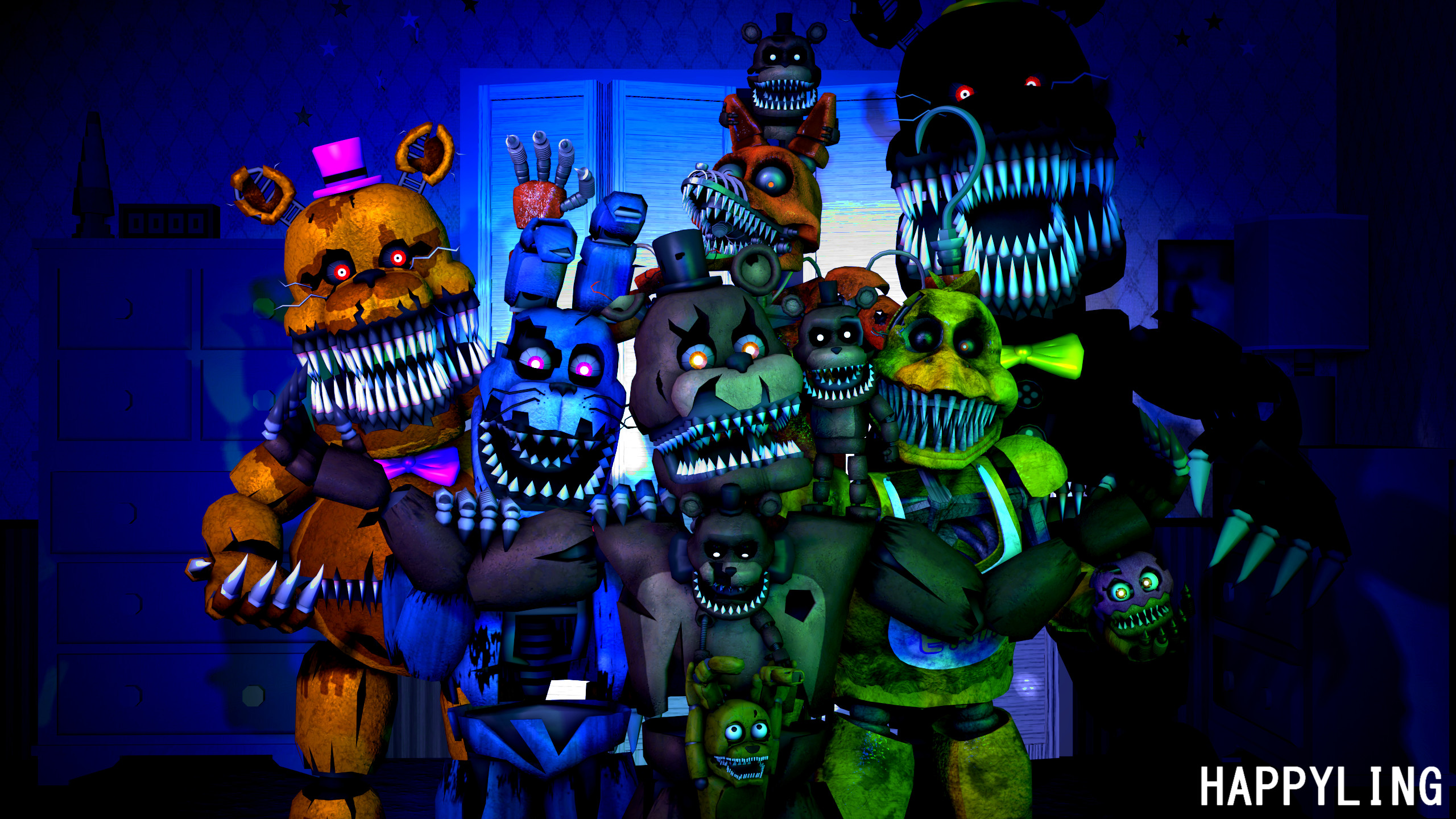 2560x1440 [SFM FNAF] Five nights at Freddy's 4 wallpaper by Happyling, A 2560 x