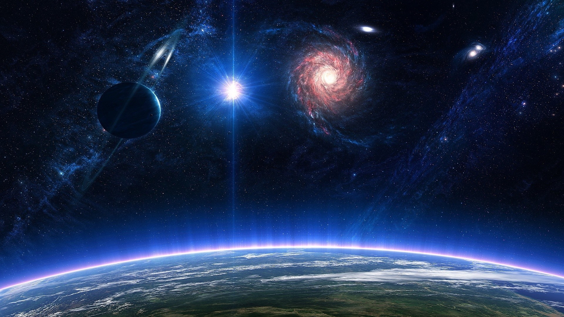 Earth from space wallpaper 1920x1080 74 images - Space backgrounds 1920x1080 ...